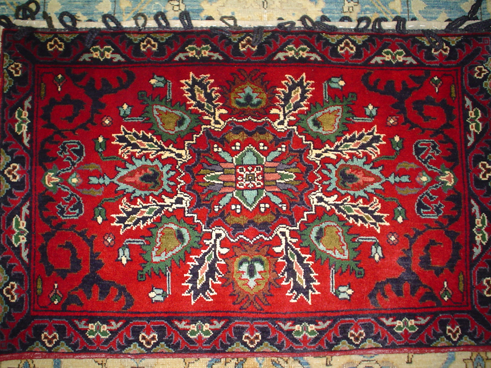 Beautiful large hand woven rug pillow. Old Tabriz design, very tightly woven. Available for sale.