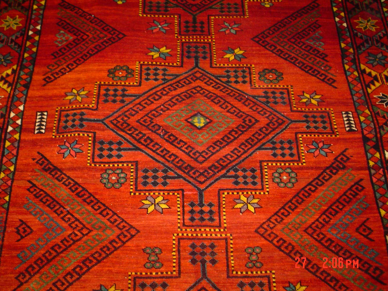 "Beautiful 6'6"" x 12' Uzbek rug. Sold"
