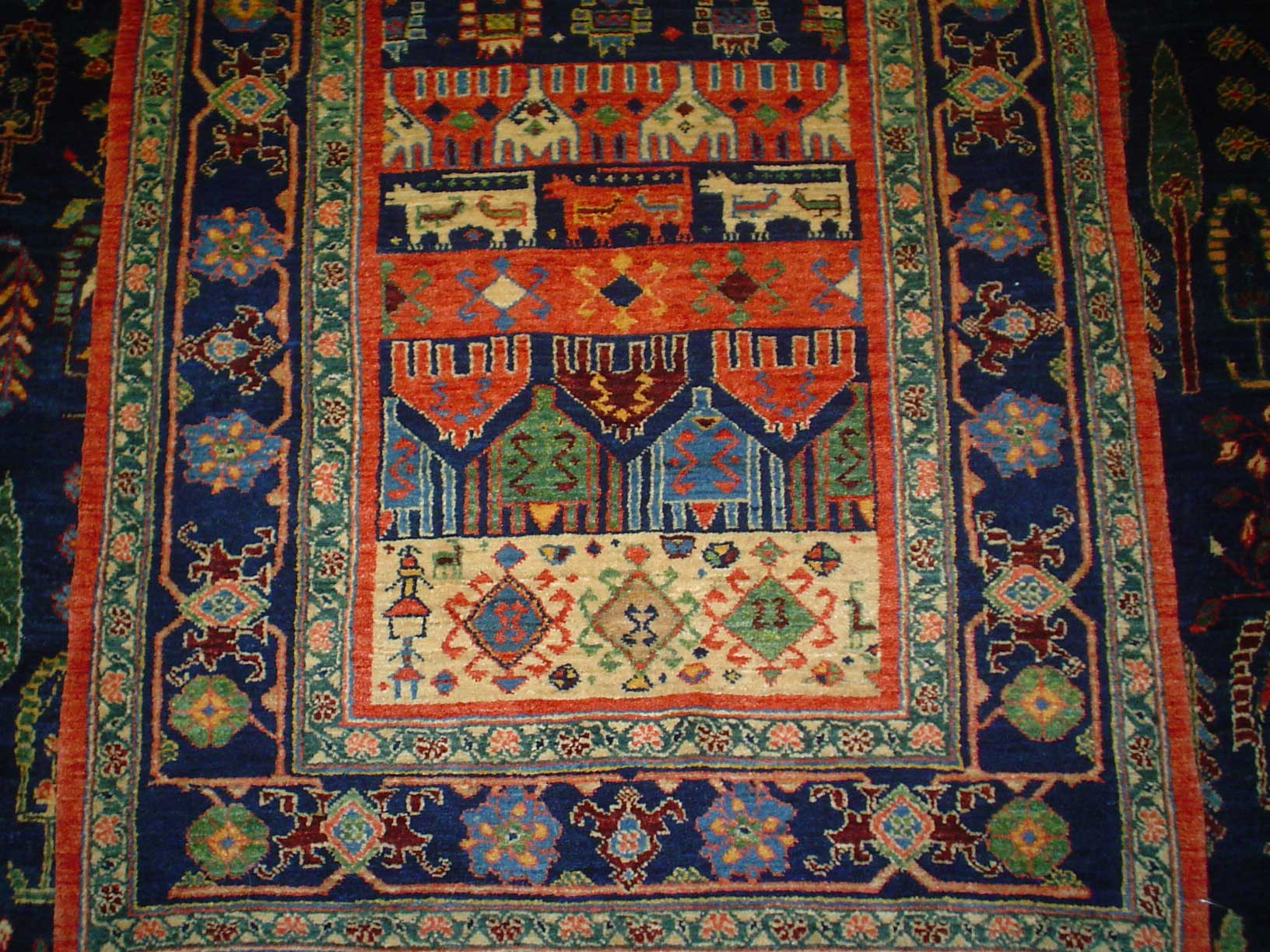 Unique and lovely tribal runner from Iran. One of my favorites! Sold.
