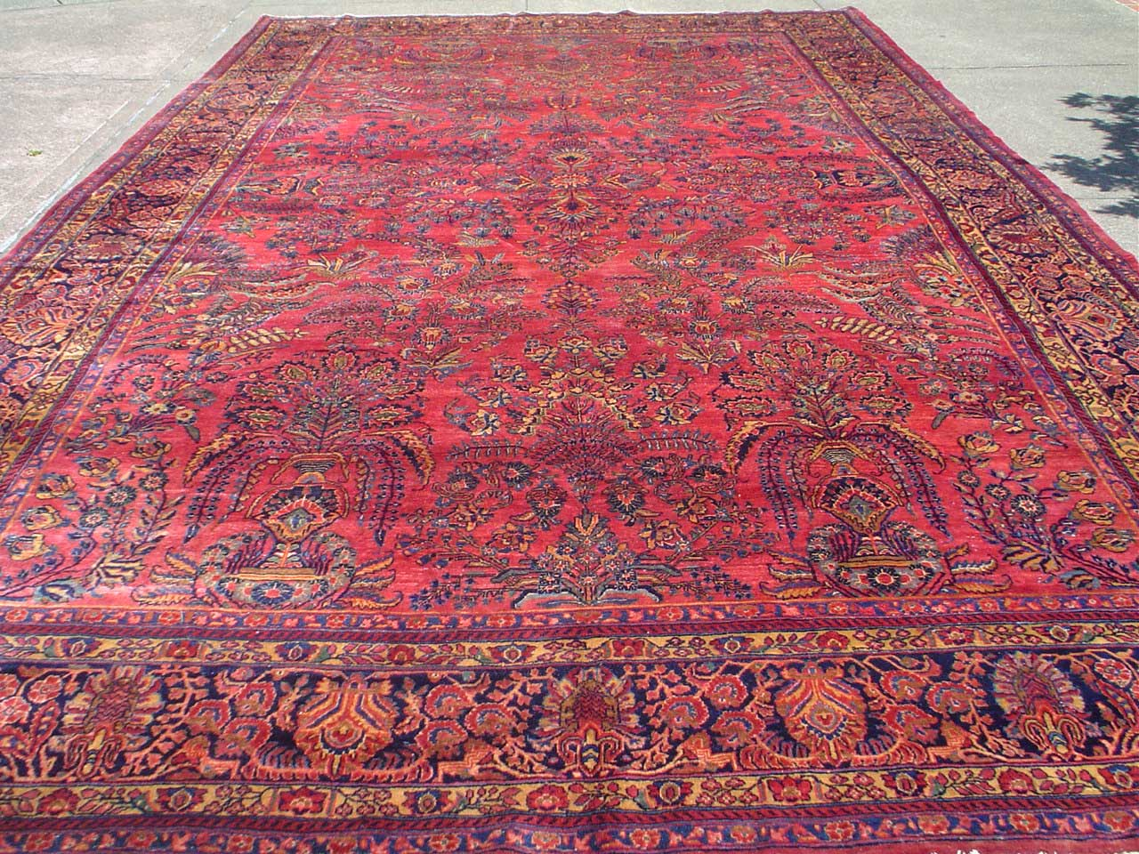 "10'2"" x 16'4"" Antique Persian Sarouk. For details, see my video of this piece. Link in ARTICLES or on my LINKs page. Sold."
