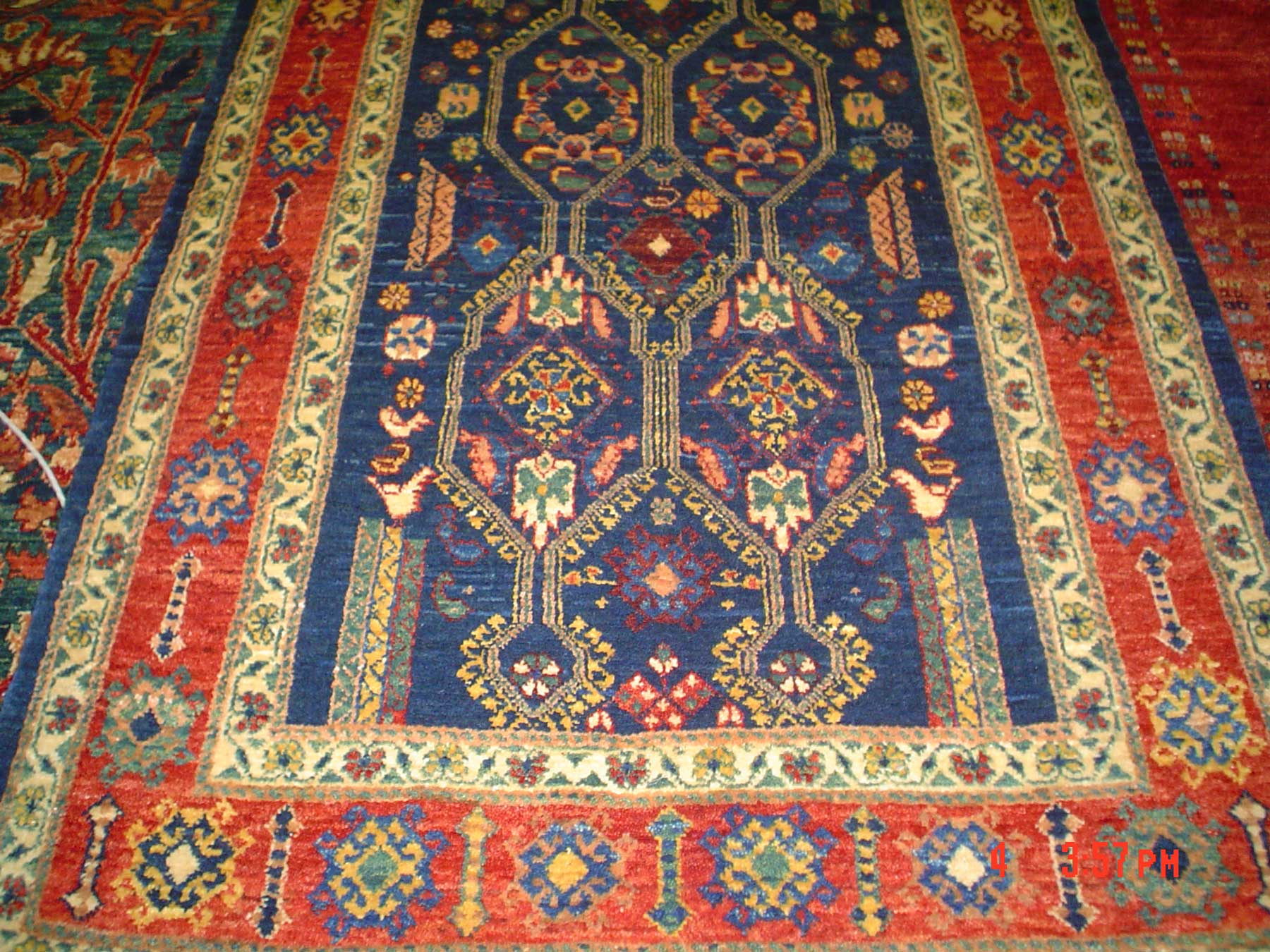 3 x 5 Persian tribal rug. Khamsehbaf. Sold.