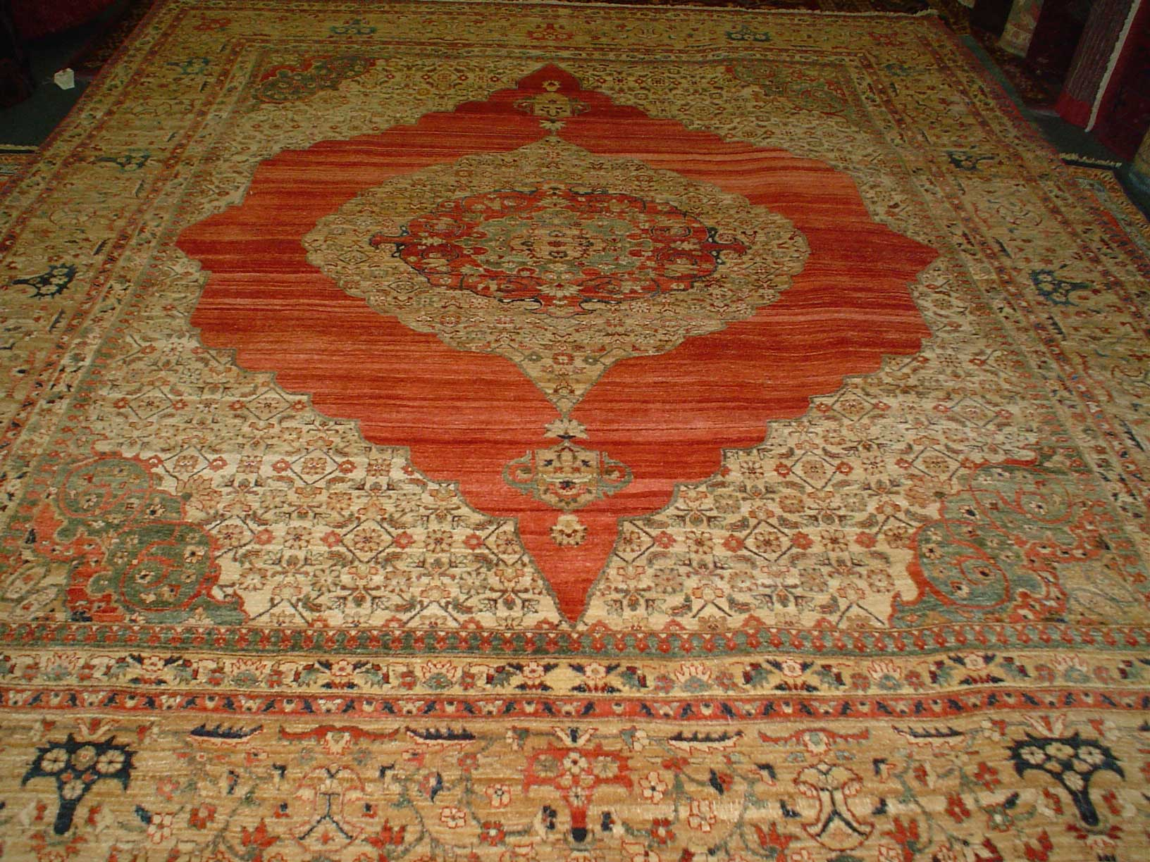 8 x 10 veg dyed, handmade rug from Afghanistan. Exquisite.