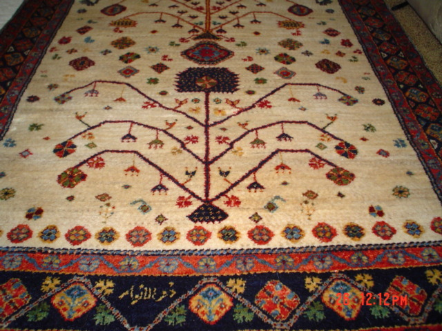 "3'1"" x 9'7"" One-of-a-kind Persian Lori runner. Sold. This piece is signed by the weaver and was originally purchased from James Opie when he was wholesaling rugs in 2000-2002."