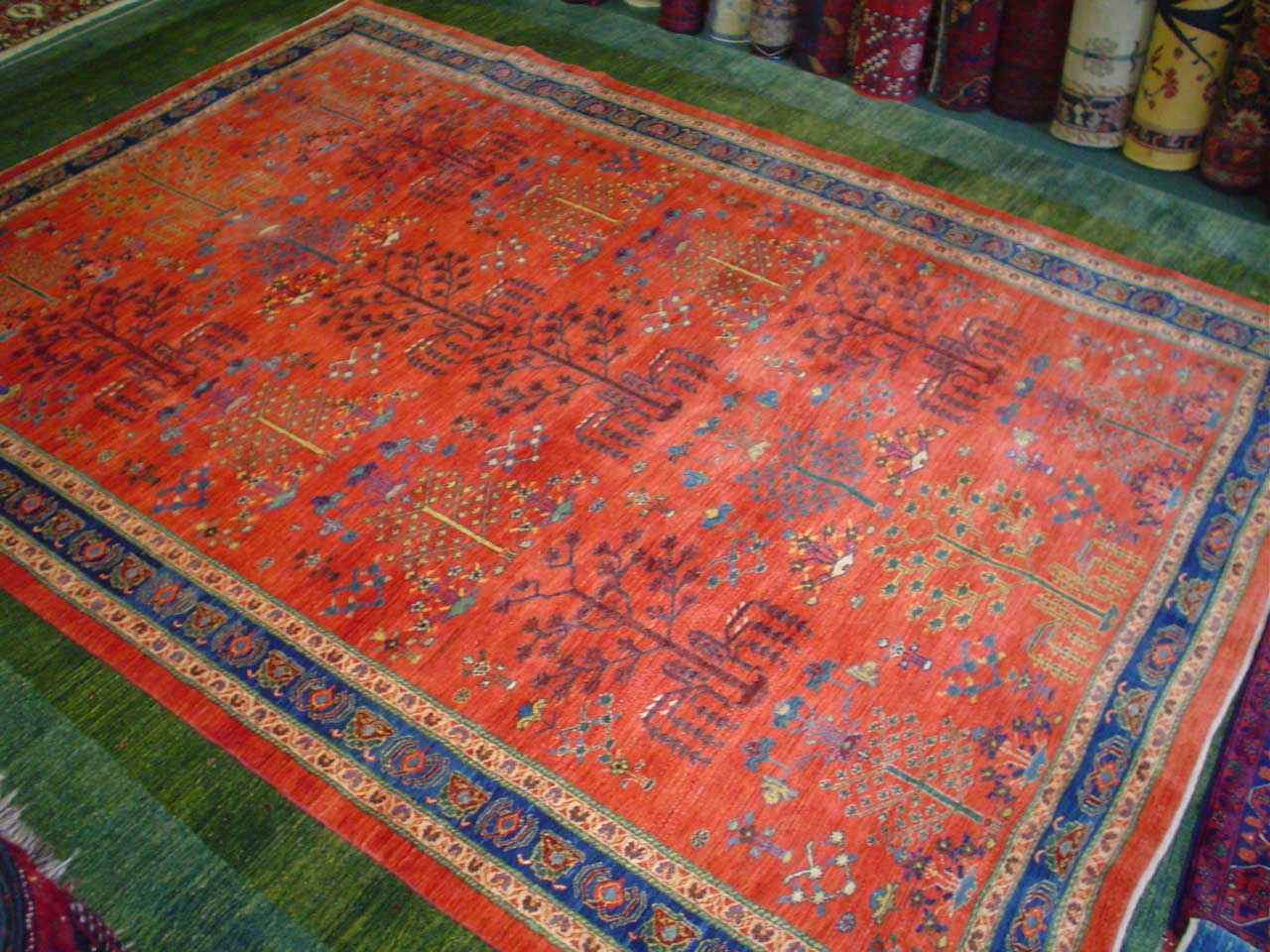 "6'10"" x 9'10 Persian tribal Khamsehbaf. Sold."