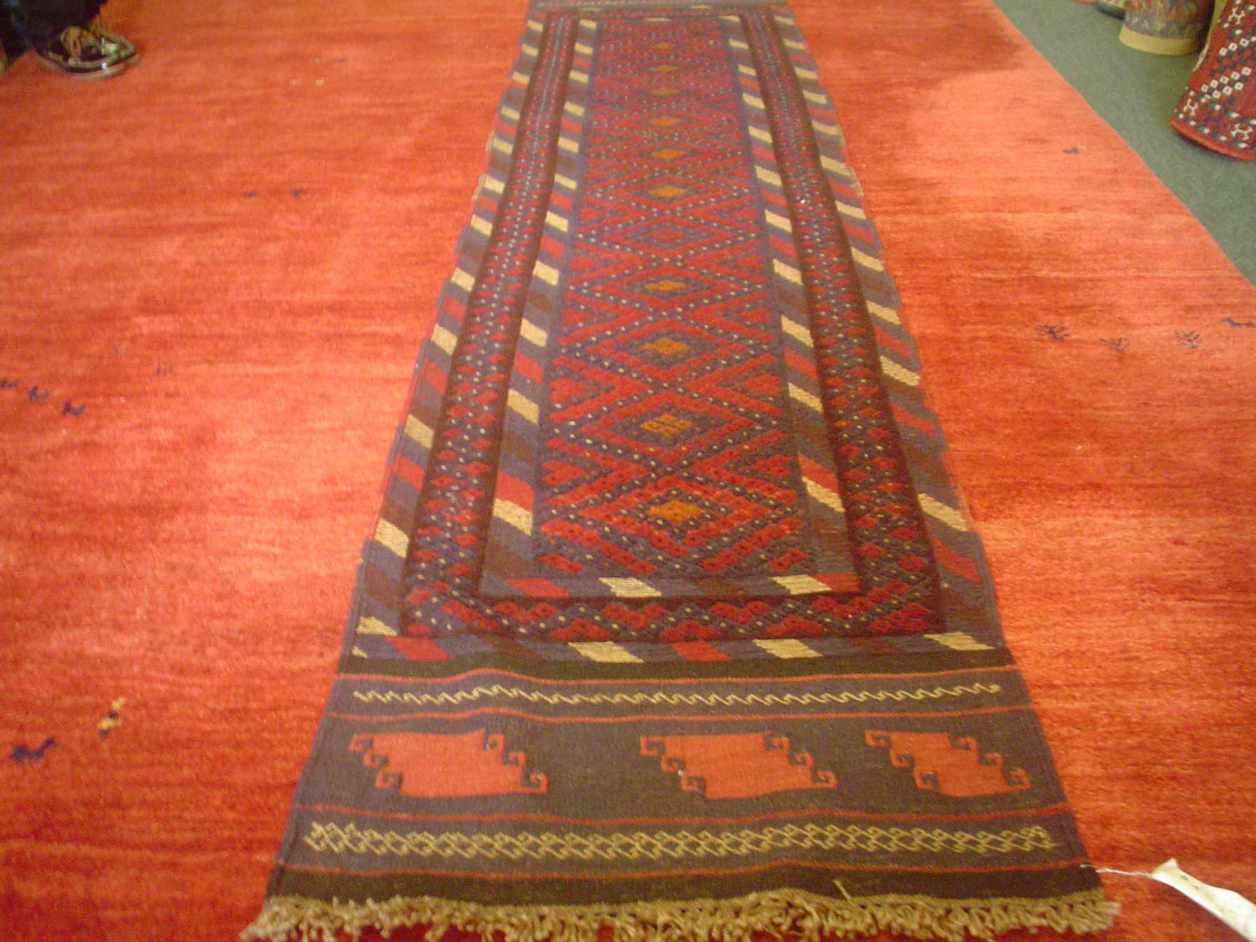 #9)  Balouch tribal runner. 2' x 8'9""