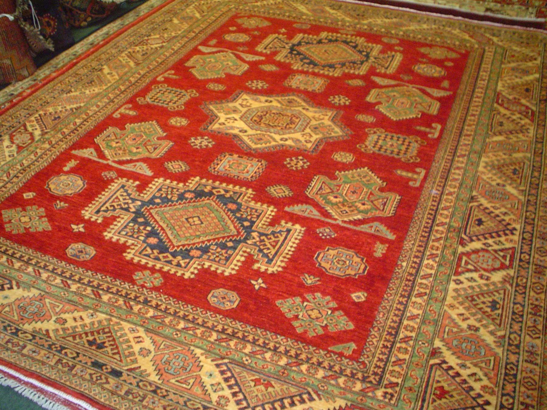 #15) 8 x 10 Afghan Kazak.