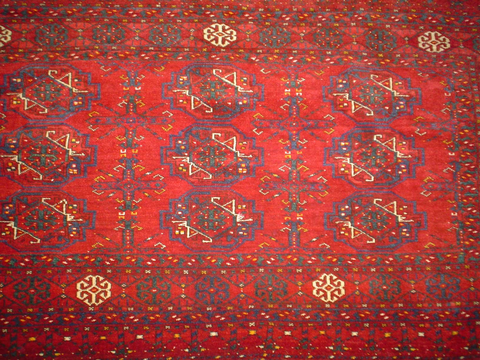 #6) Large semi-antique Turkoman torba. 3' x 4' Excellent condition.