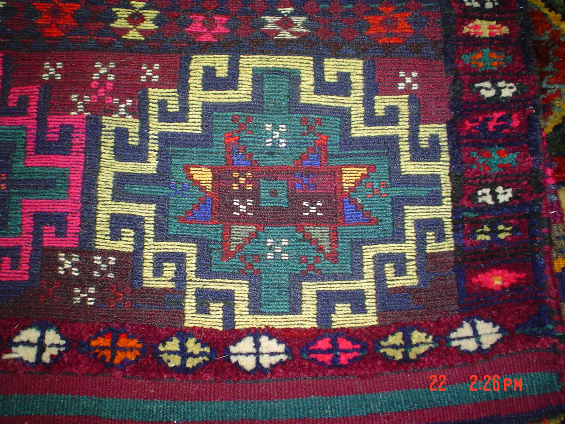 #22b) Kurdish Saddle bag. Memling Gul.