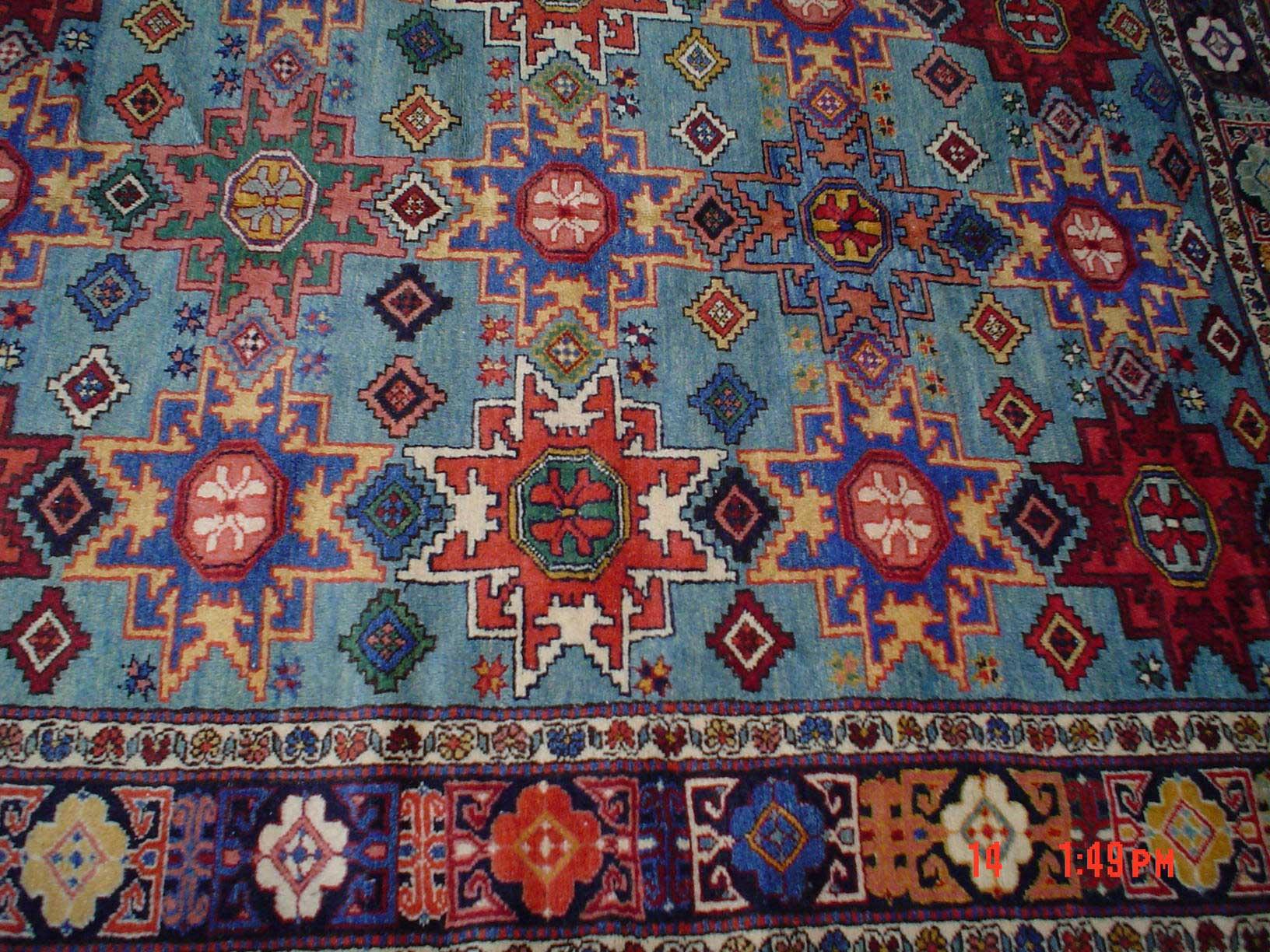 5 x 7 Kazak in beautiful colors.