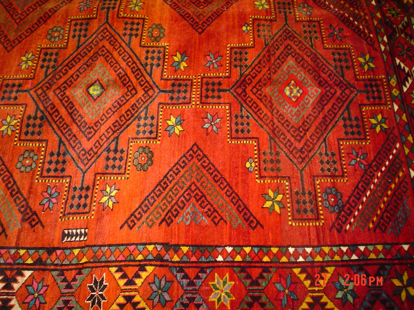 Beautiful Old Uzbek rug. SOLD