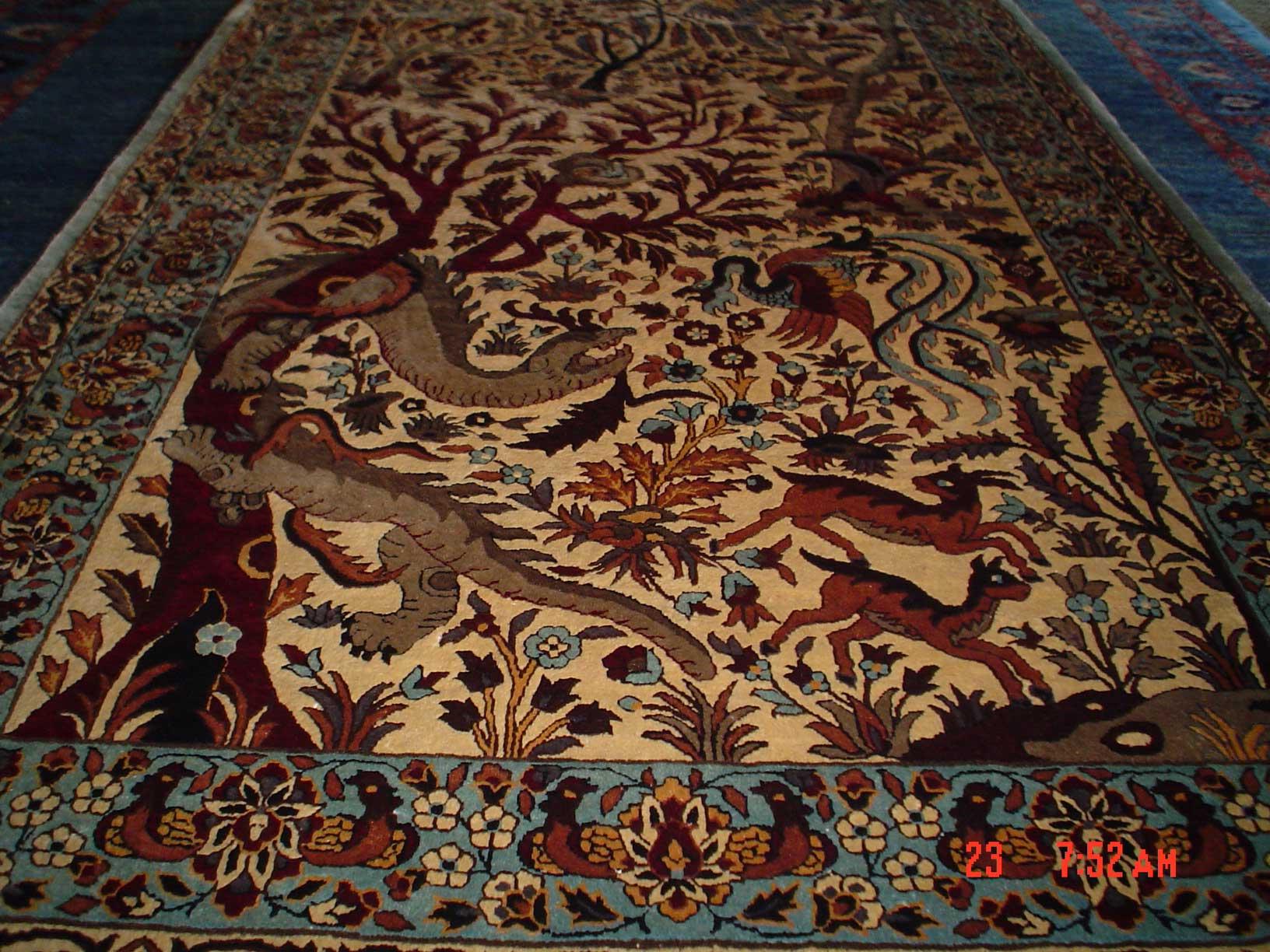 3 x 5 Tree of Life silk rug! Sold.