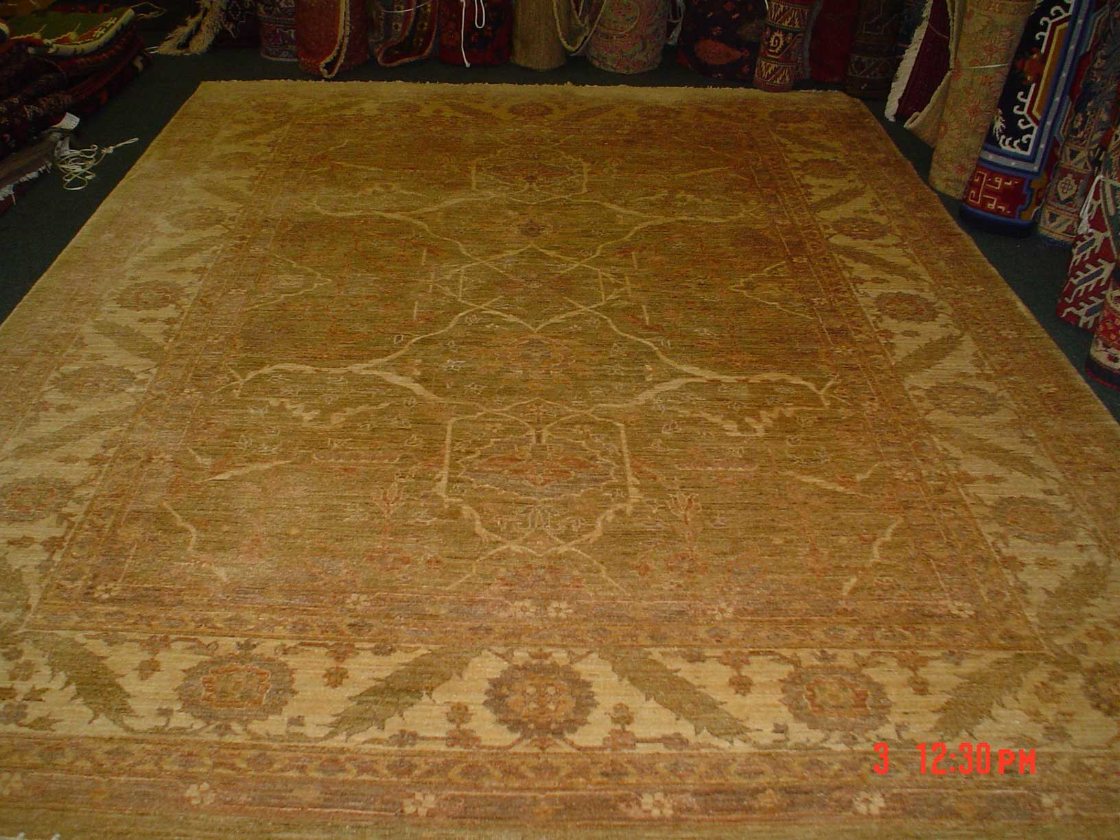 Beautiful 8 x 10 Ariana Sultanabad. Sold. Very old design in a finely woven new rug.