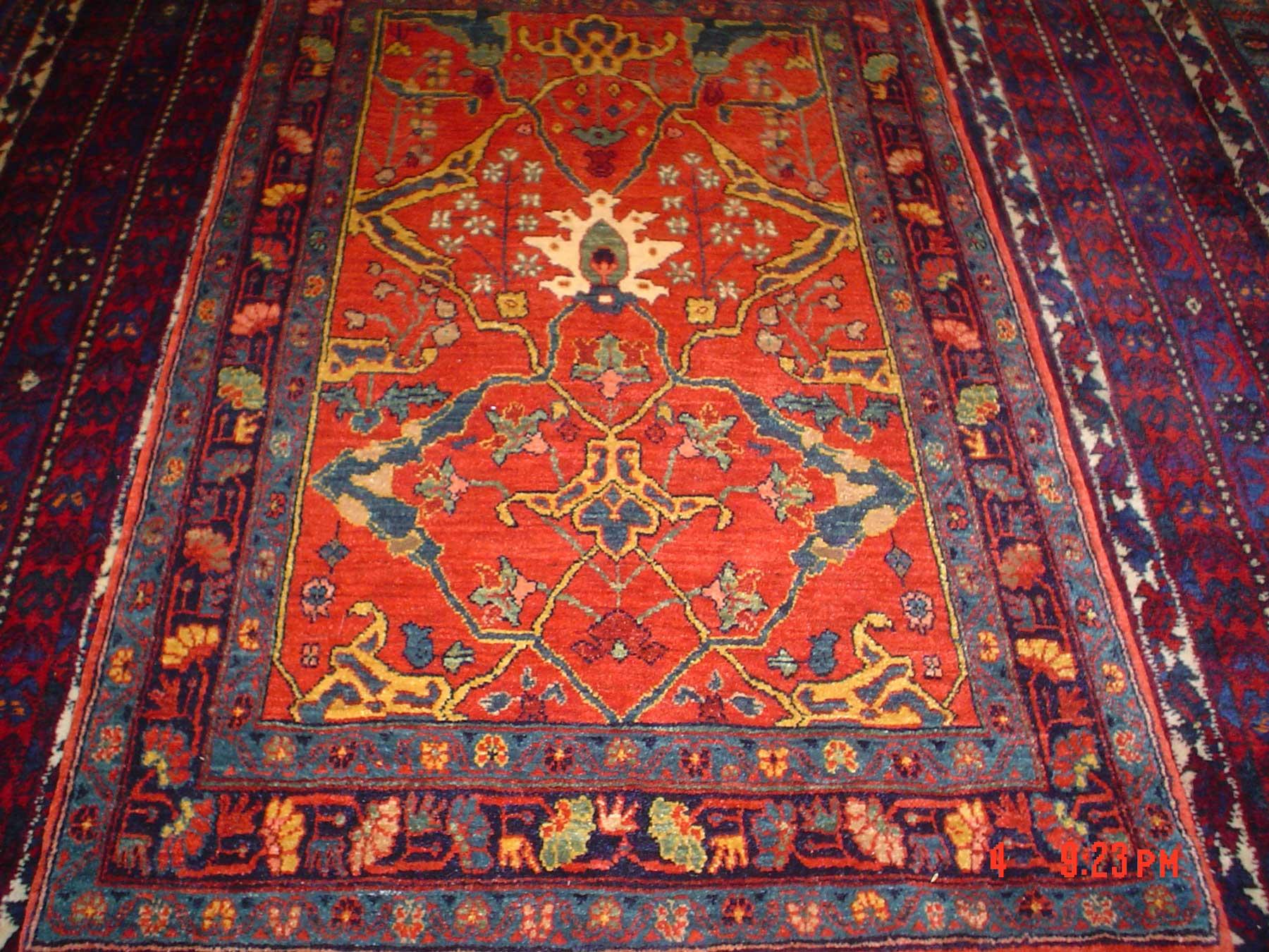 3 x 5 Persian Bijar rug. Woven by Kurdish weavers in Iran. Sold.