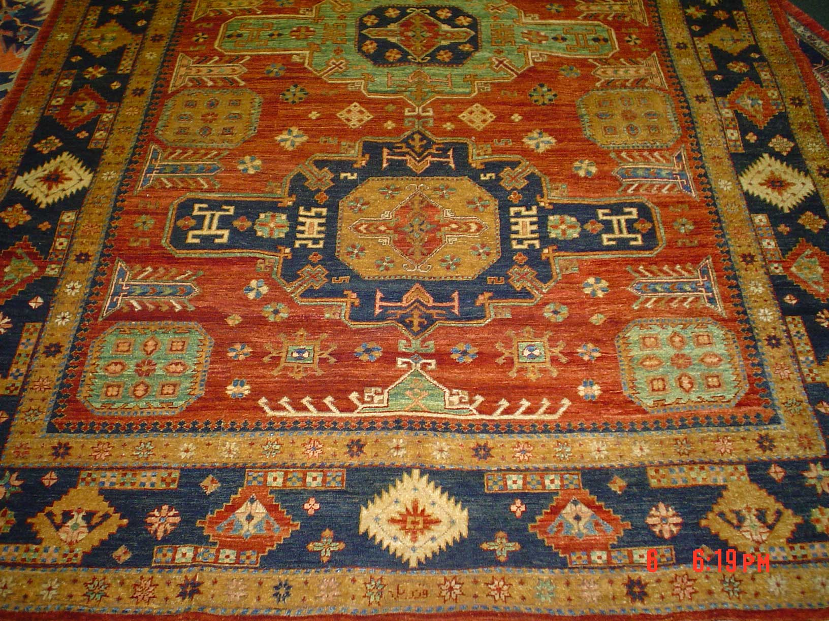 6 x 9 Kazak, Afghanistan. Durable and beautiful. Sold.
