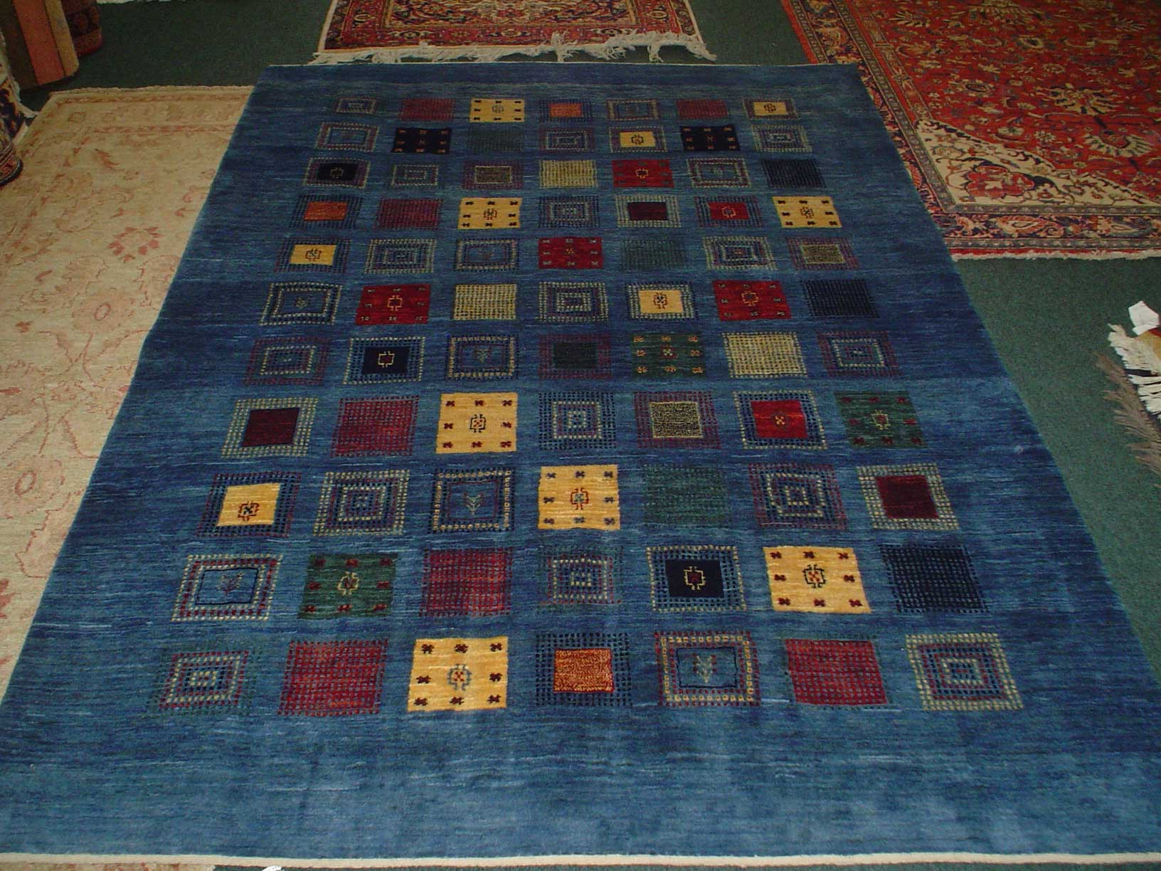 6 x 8 Gorgeous Gabbeh rug. Sold.