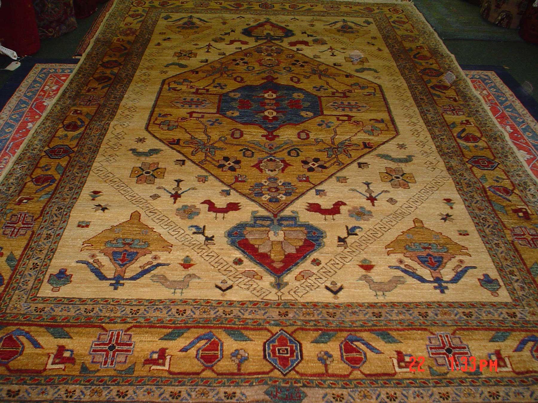6 x 9 Bijar design Afghan rug.  Durable and beautiful. Sold.