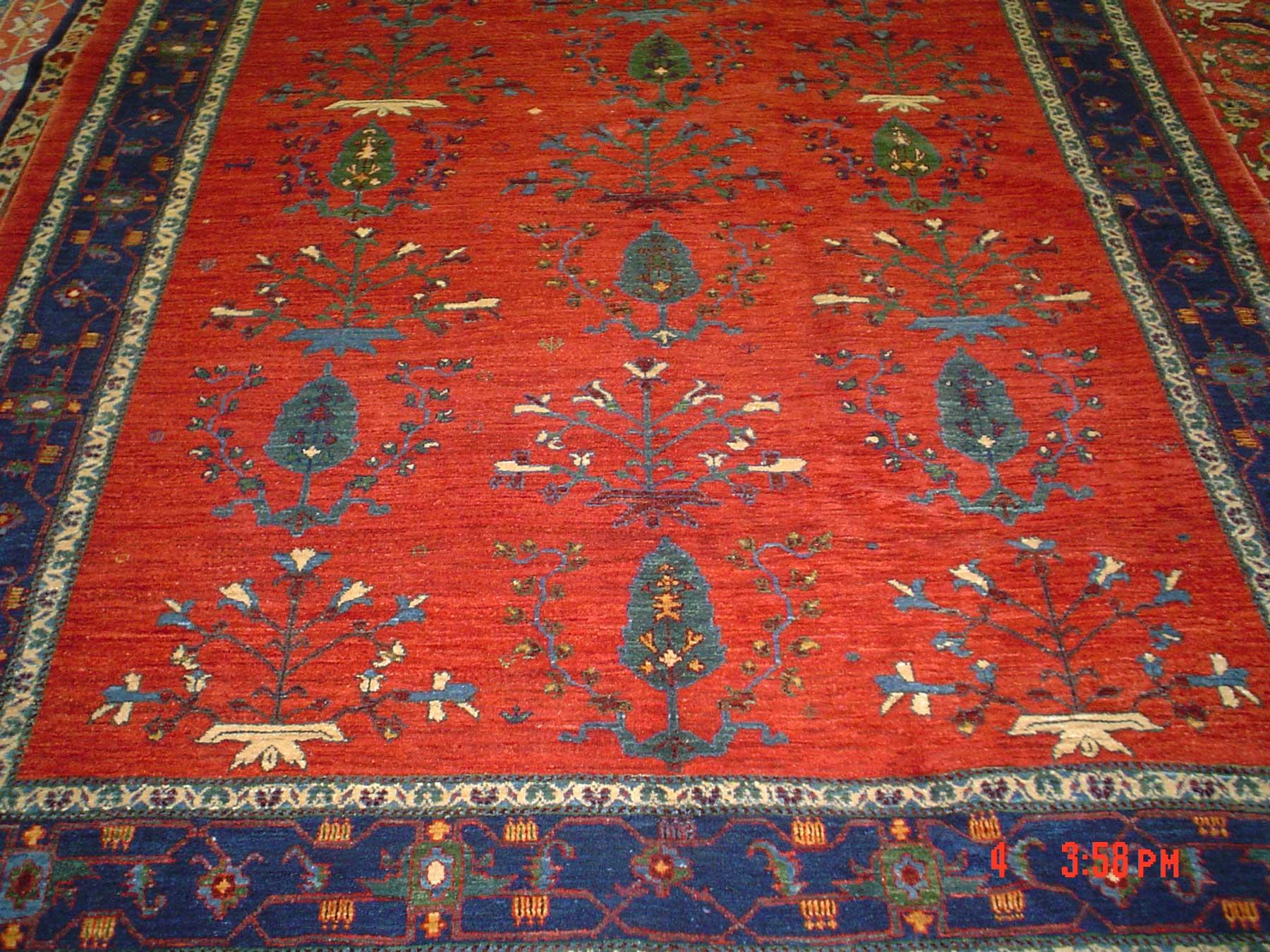 6 x 8 Persian Khamsebaf. Gorgeous colors and design. Sold.