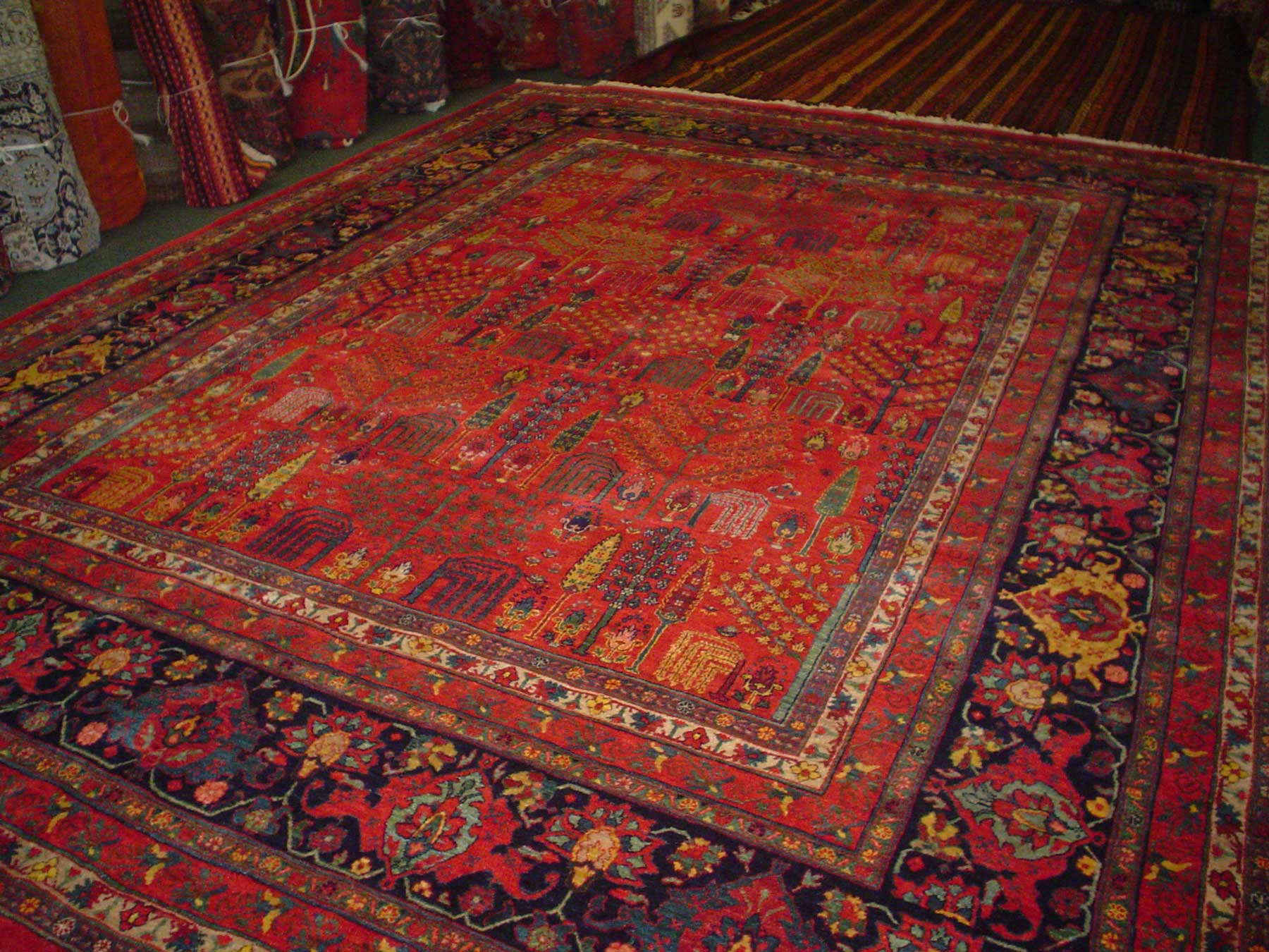 """10'3"""" x 13'9"""" Gorgeous Persian Bijar from Iran. Woven with plant based dyes and hand spun Persian wool, this piece is nothing less than spectacular! Sold."""