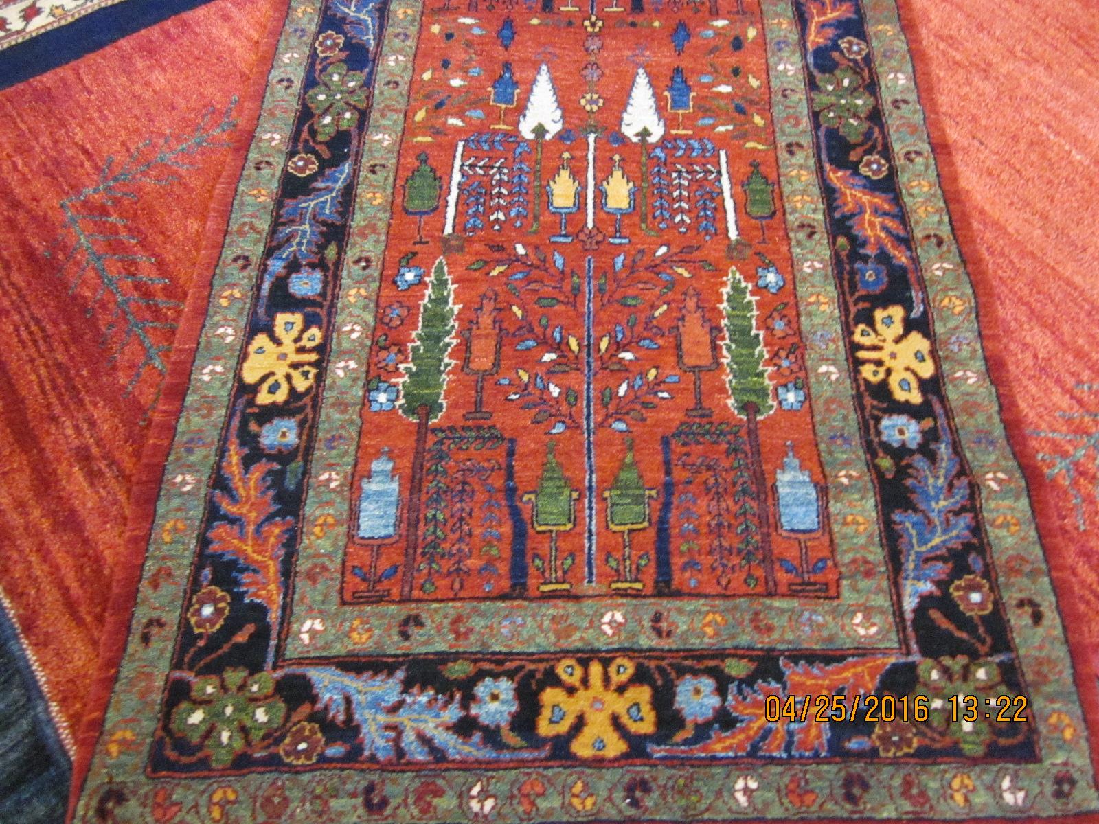 6 ft. Bijar runner, Bid Majnun design. (Cypress and Willow)