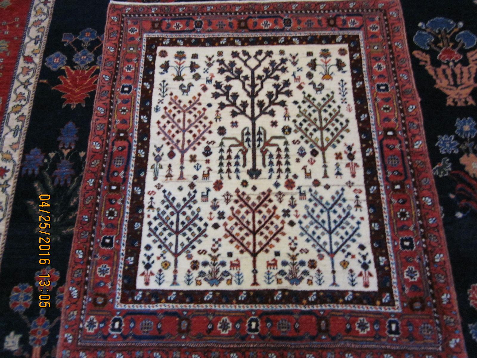 Enchanting small Tree of Life rug.
