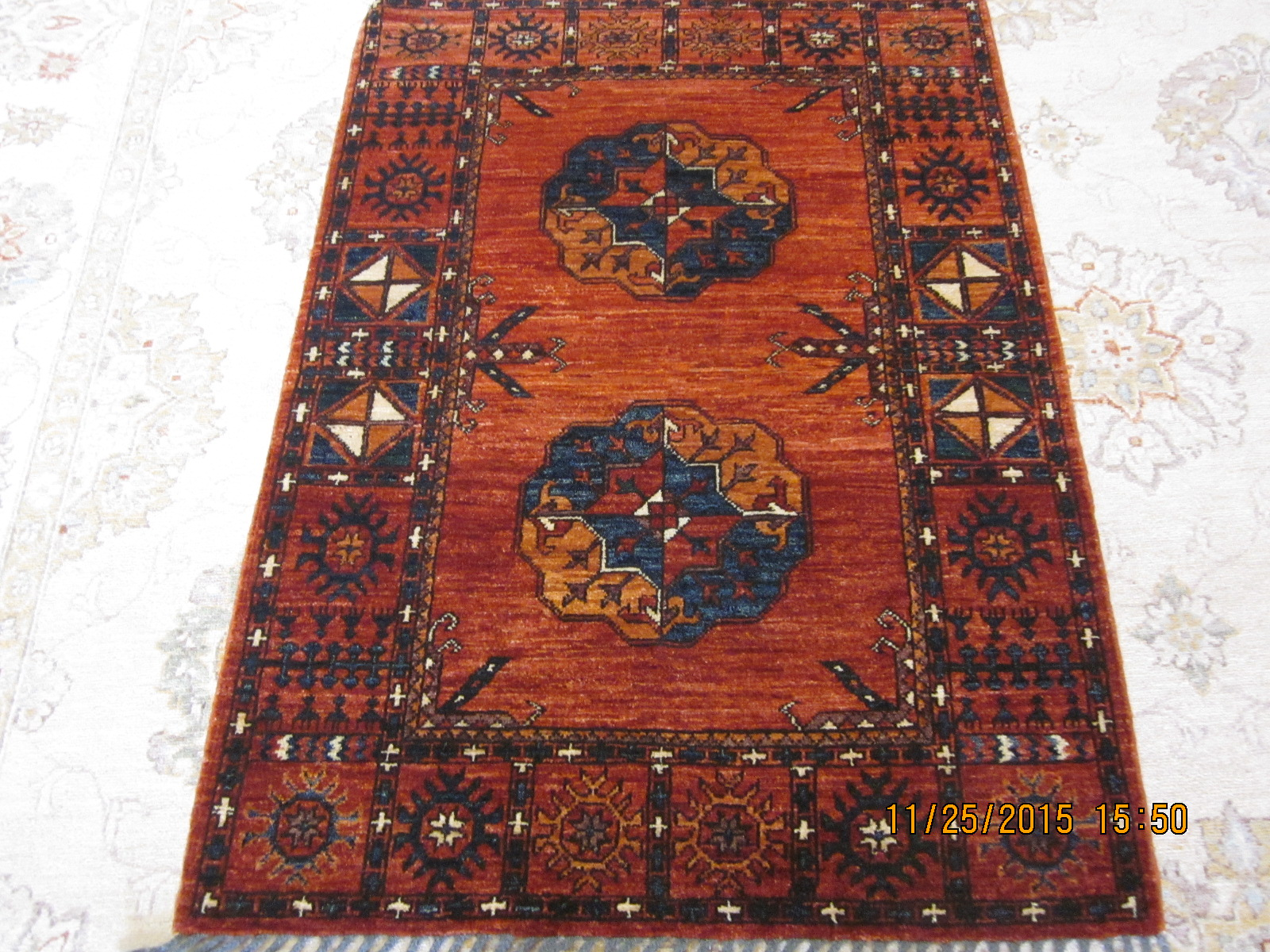 Small Ersari Turkoman rug.