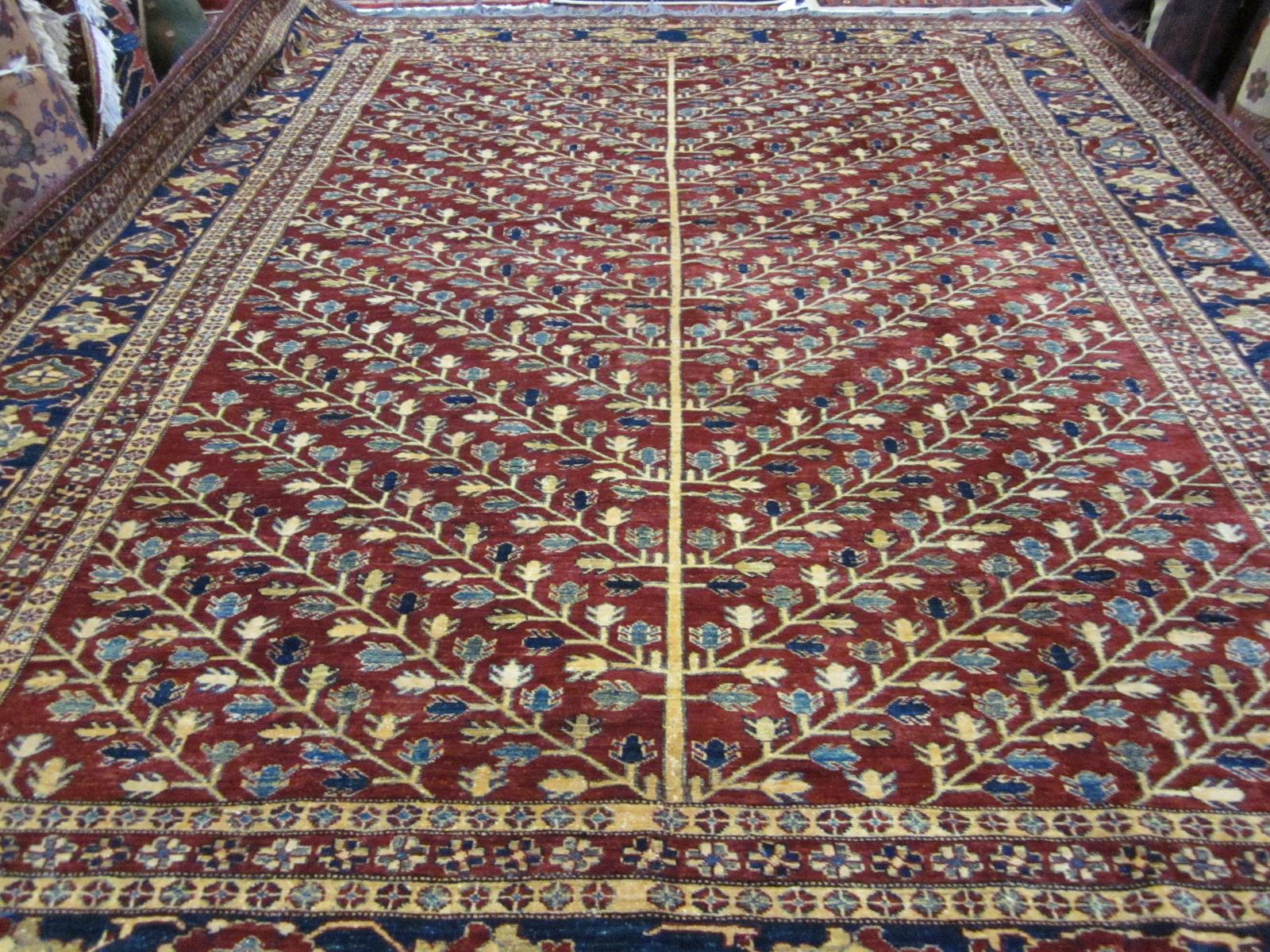 "#26) 9'1"" x 11'4"" Beautiful Kazak rug, Tree of Life Design."