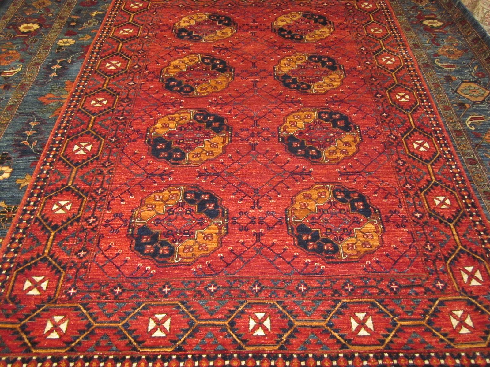 Beautiful 6 x 8 Ersari Turkoman. Sold.