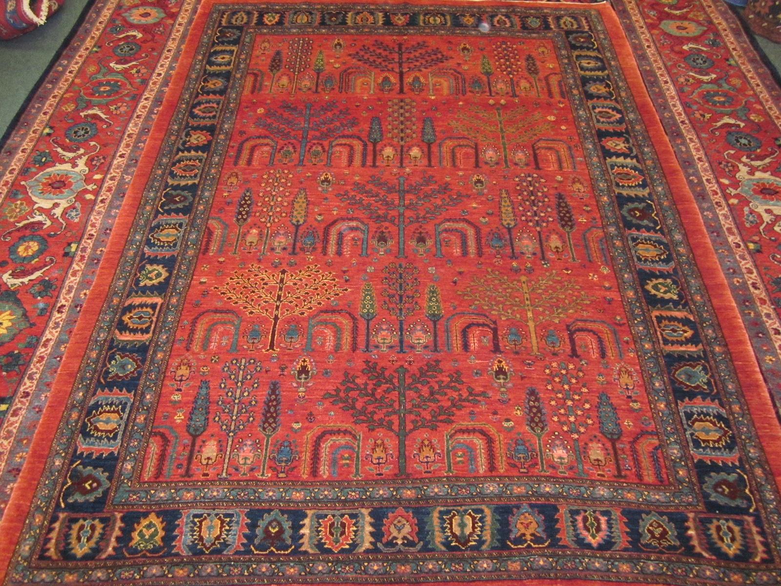 Persian Tribal rug, 6 x 8, Tree of Life design.