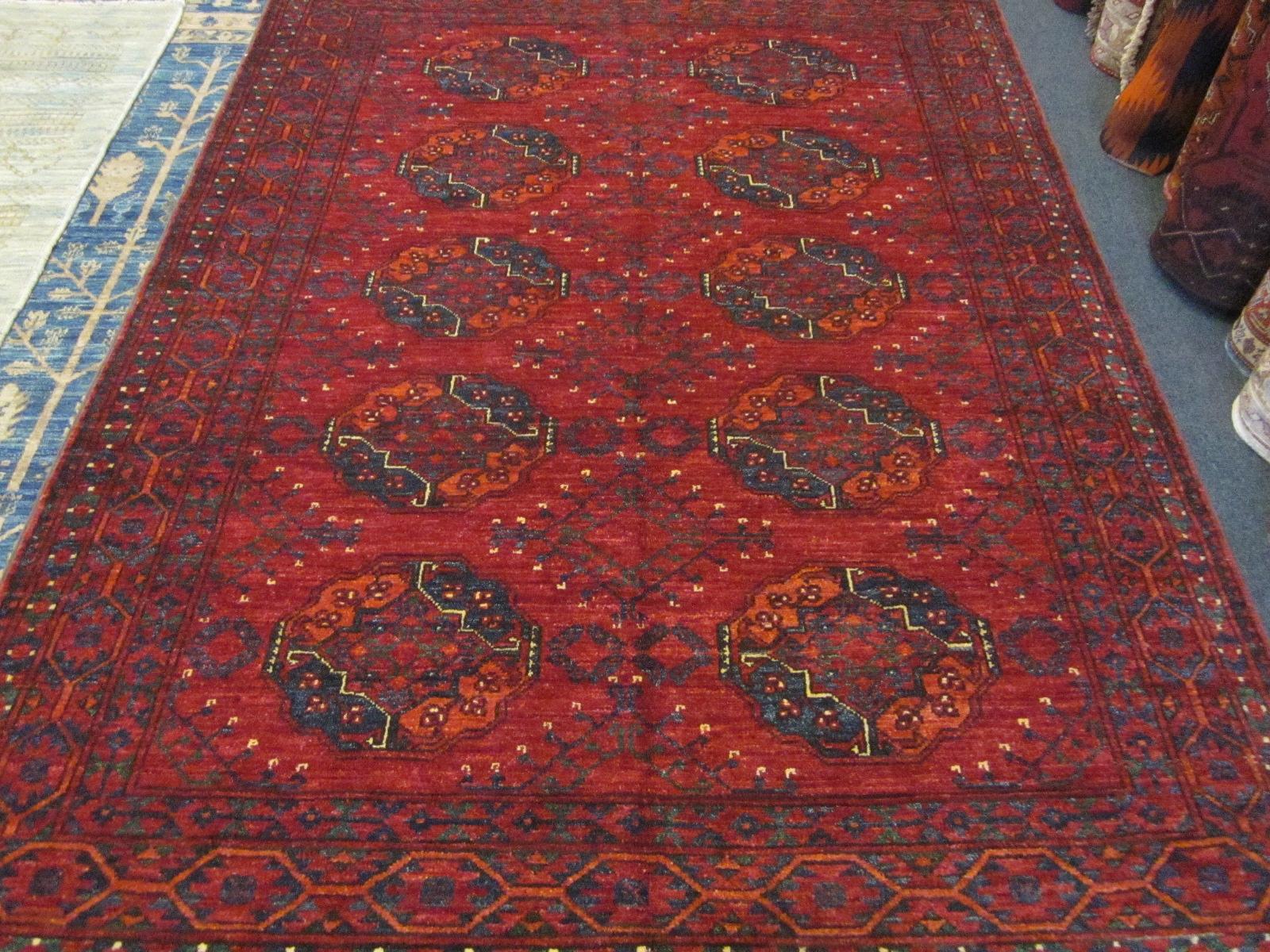 "#30) 5' x 6'7"" Ersari Turkoman rug."