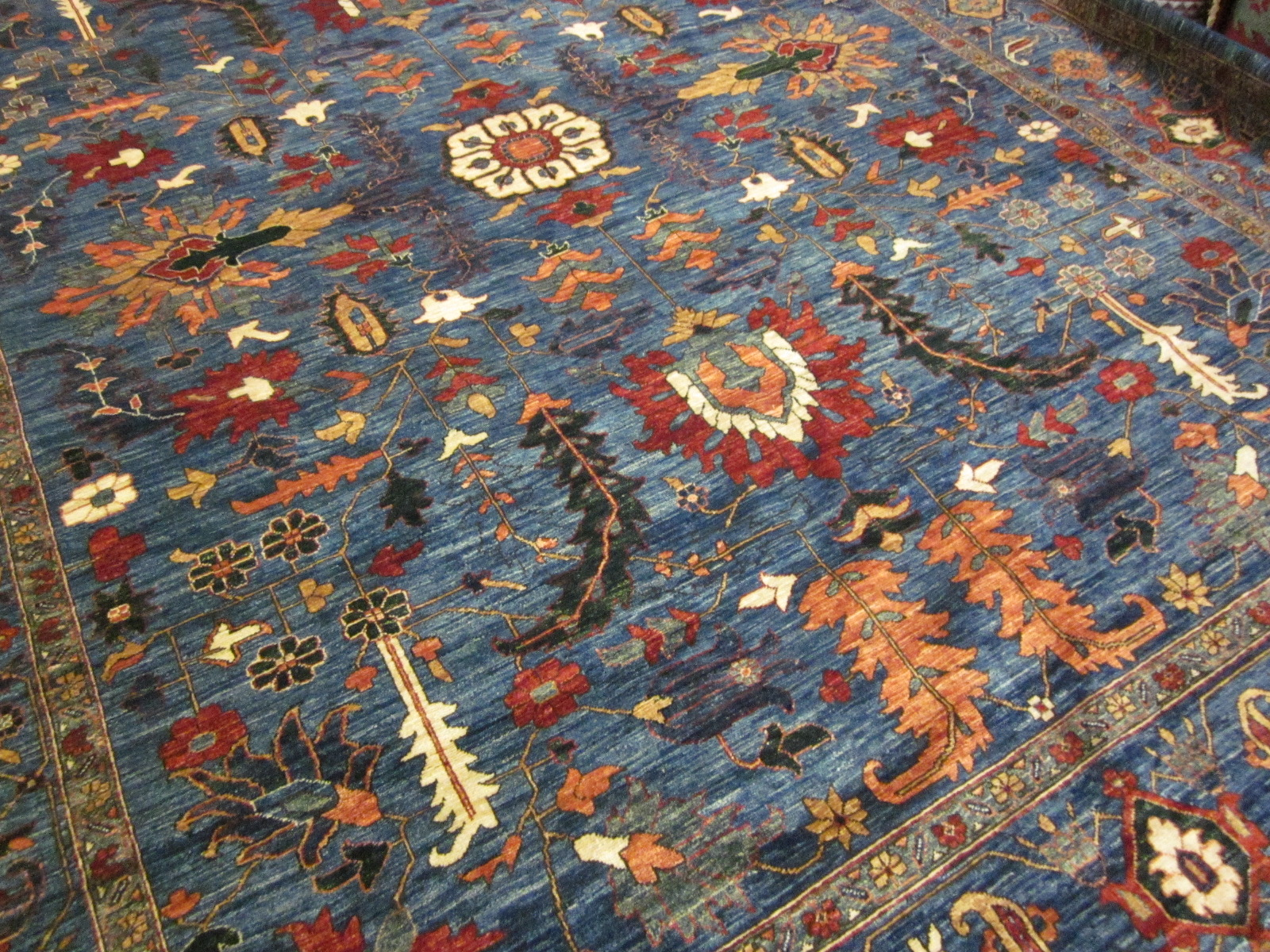 9 x 12 Tribal design (Heriz) Afghan rug. Sold.