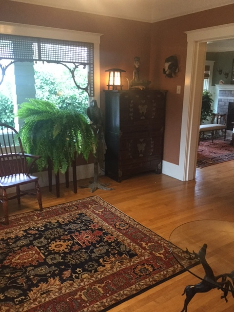 Beautiful home in Sebastopol, CA featuring two rugs purchase at my gallery.