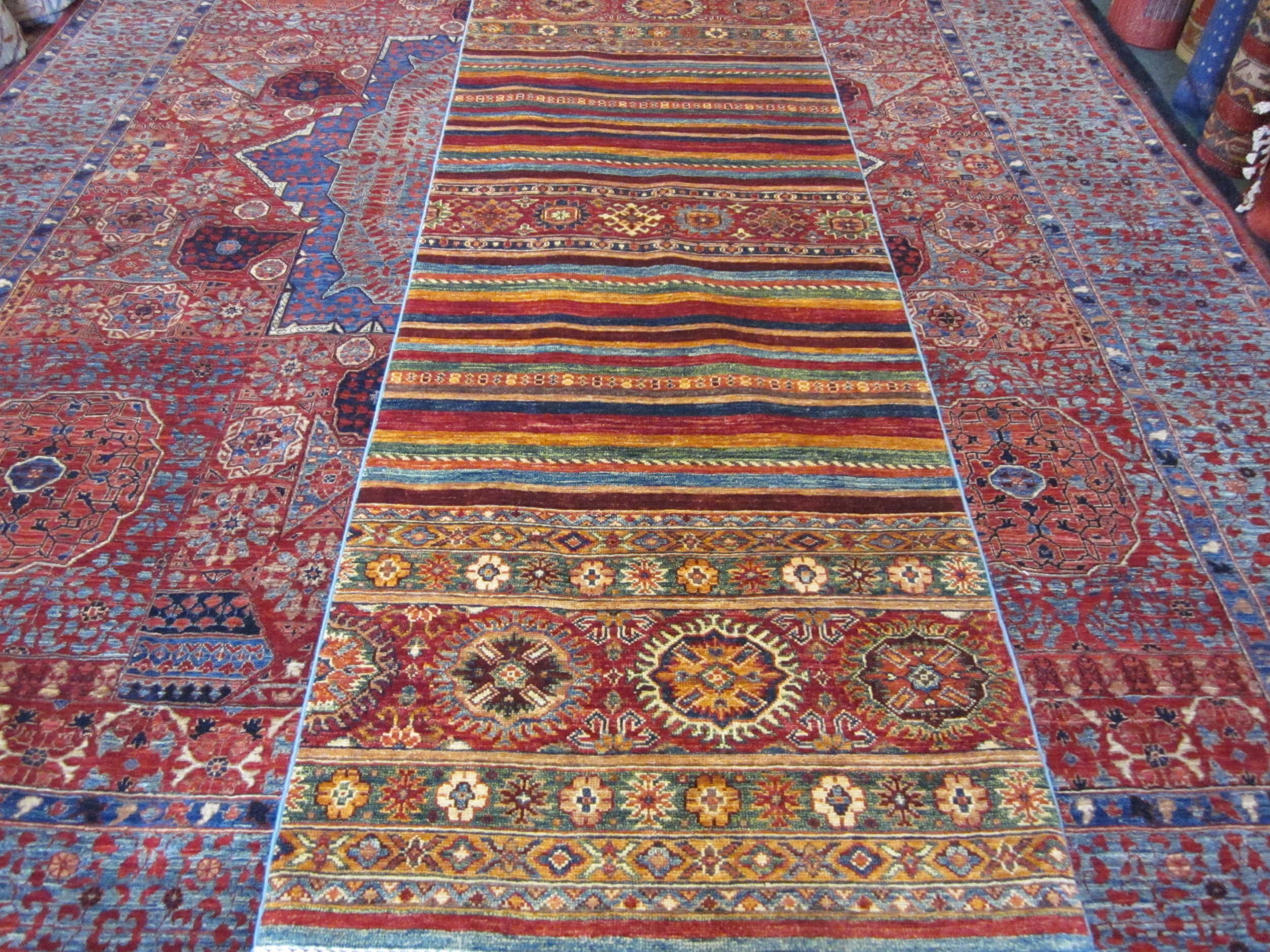 "#52) 2'7"" x 8'1"" Tribal runner, Khorjin design."