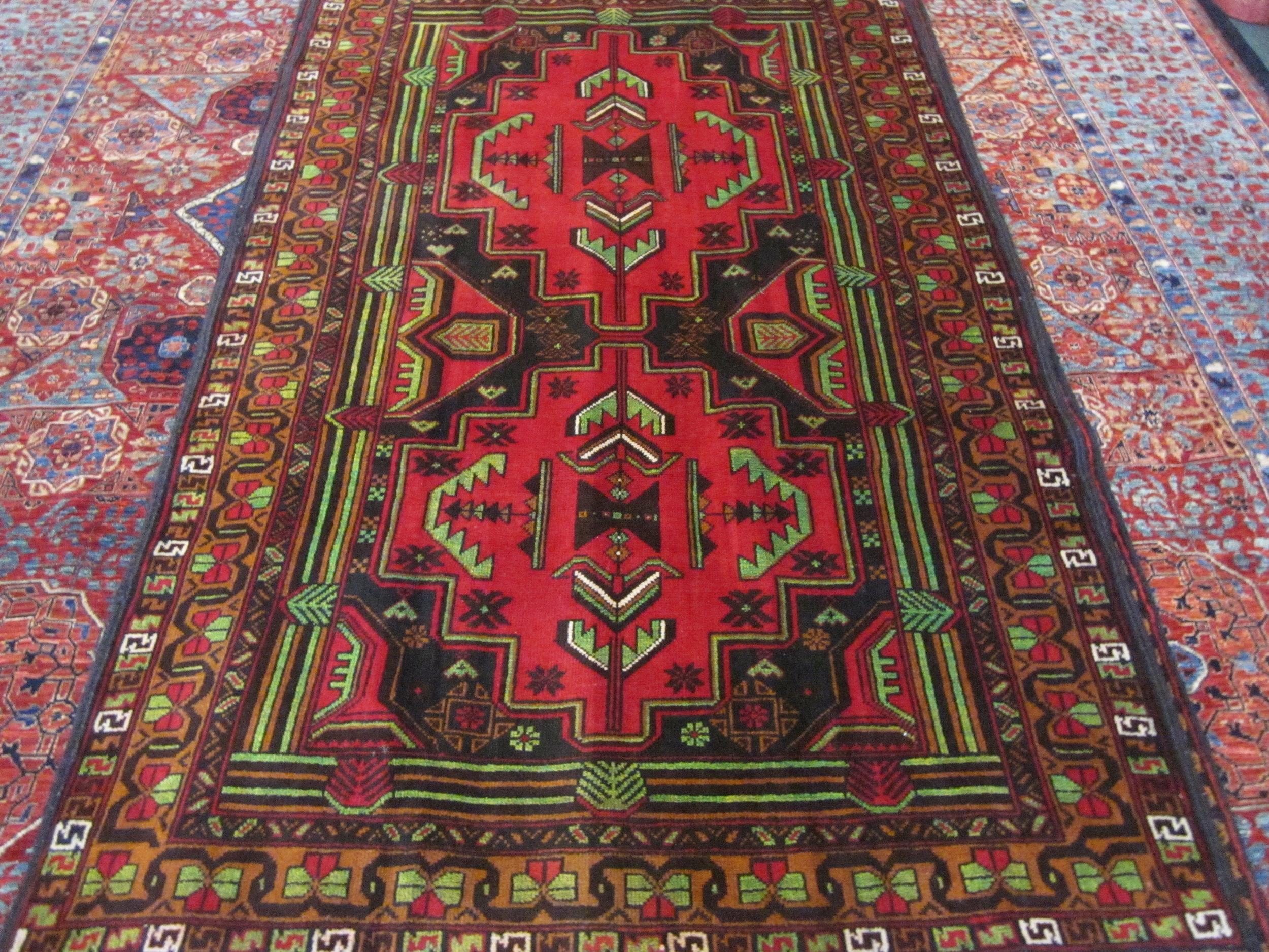 """#48) 4' x 6"""" Balouch tribal rug."""