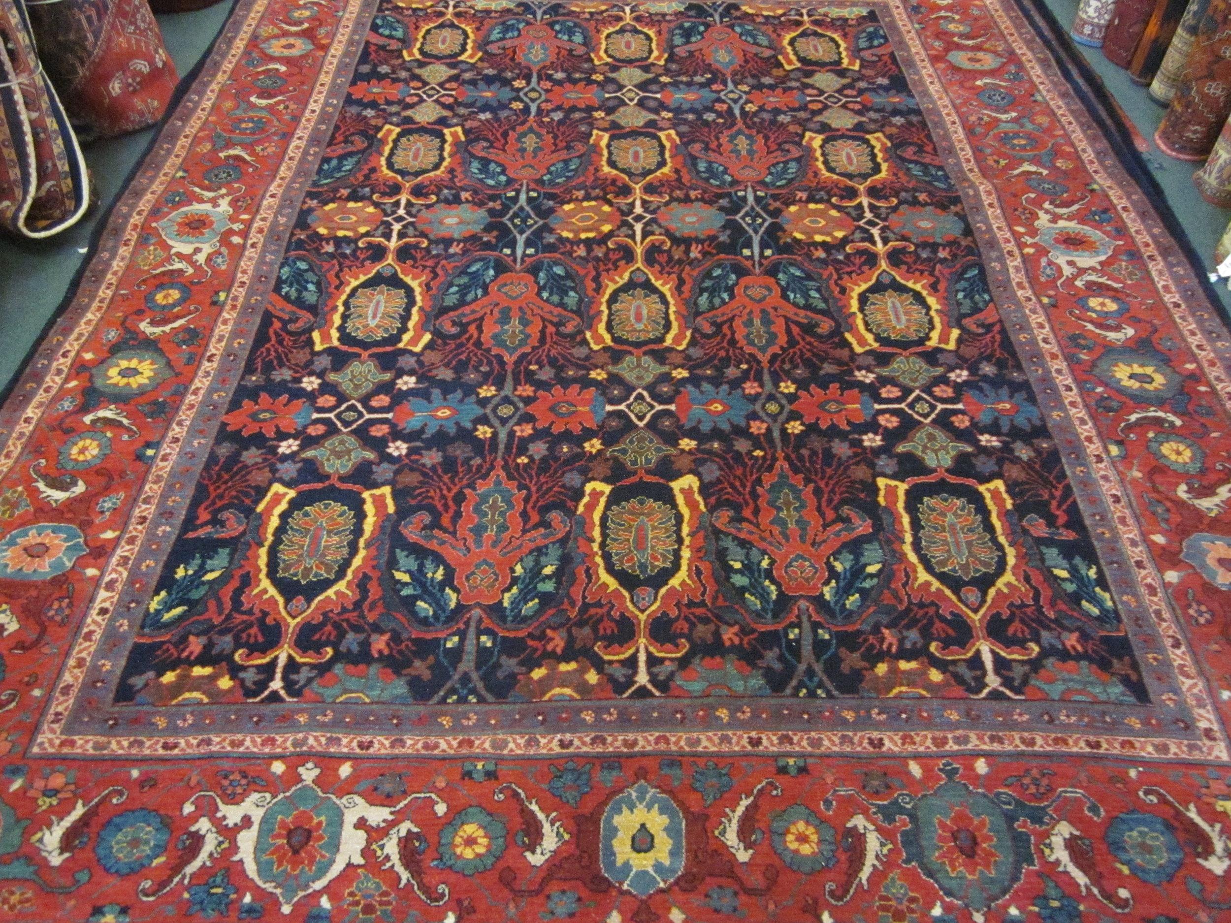 Photo: Beautiful new 8 x 11 Bijar rug in an antique design woven in Iran