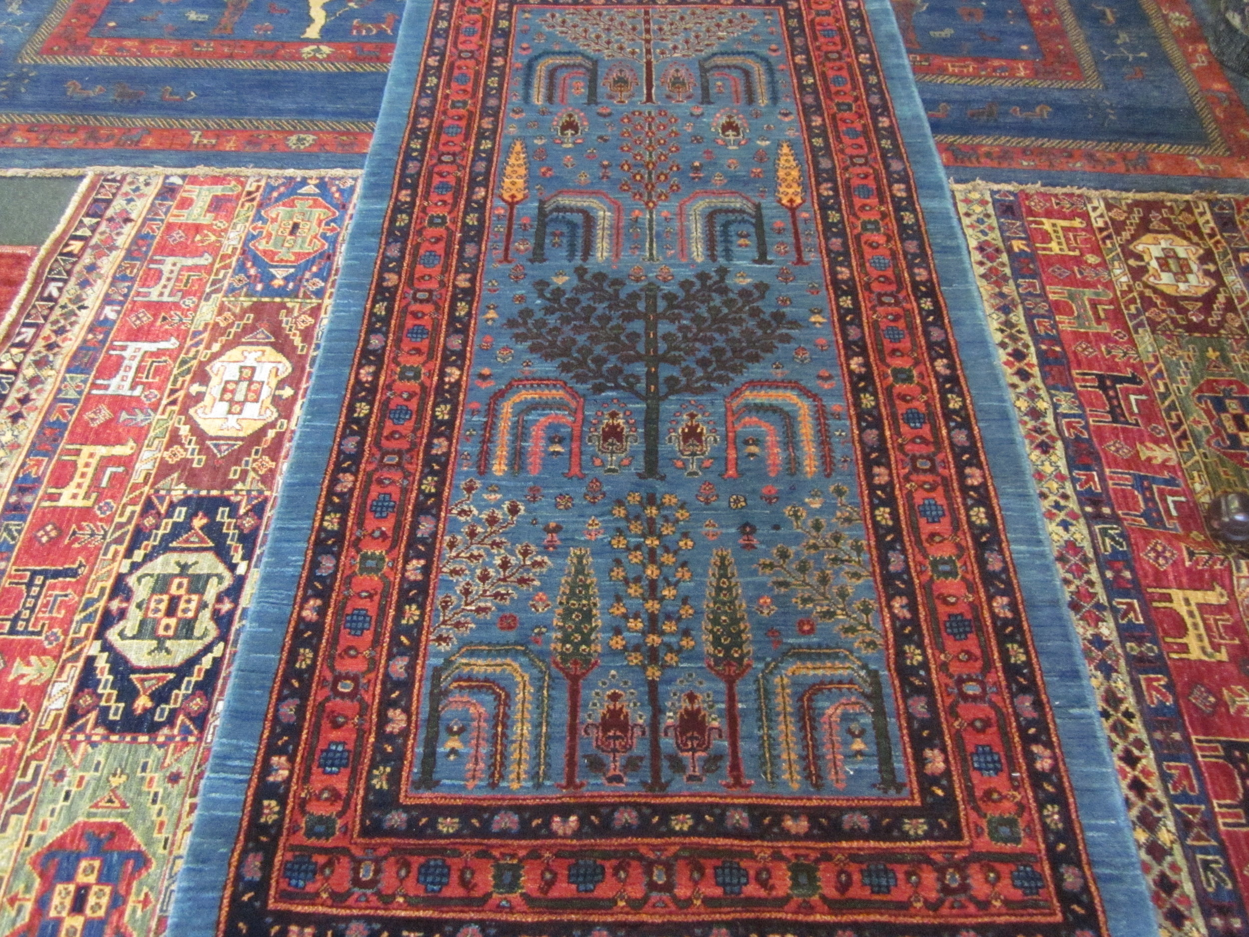 Tree of Life Blue Persian Runner