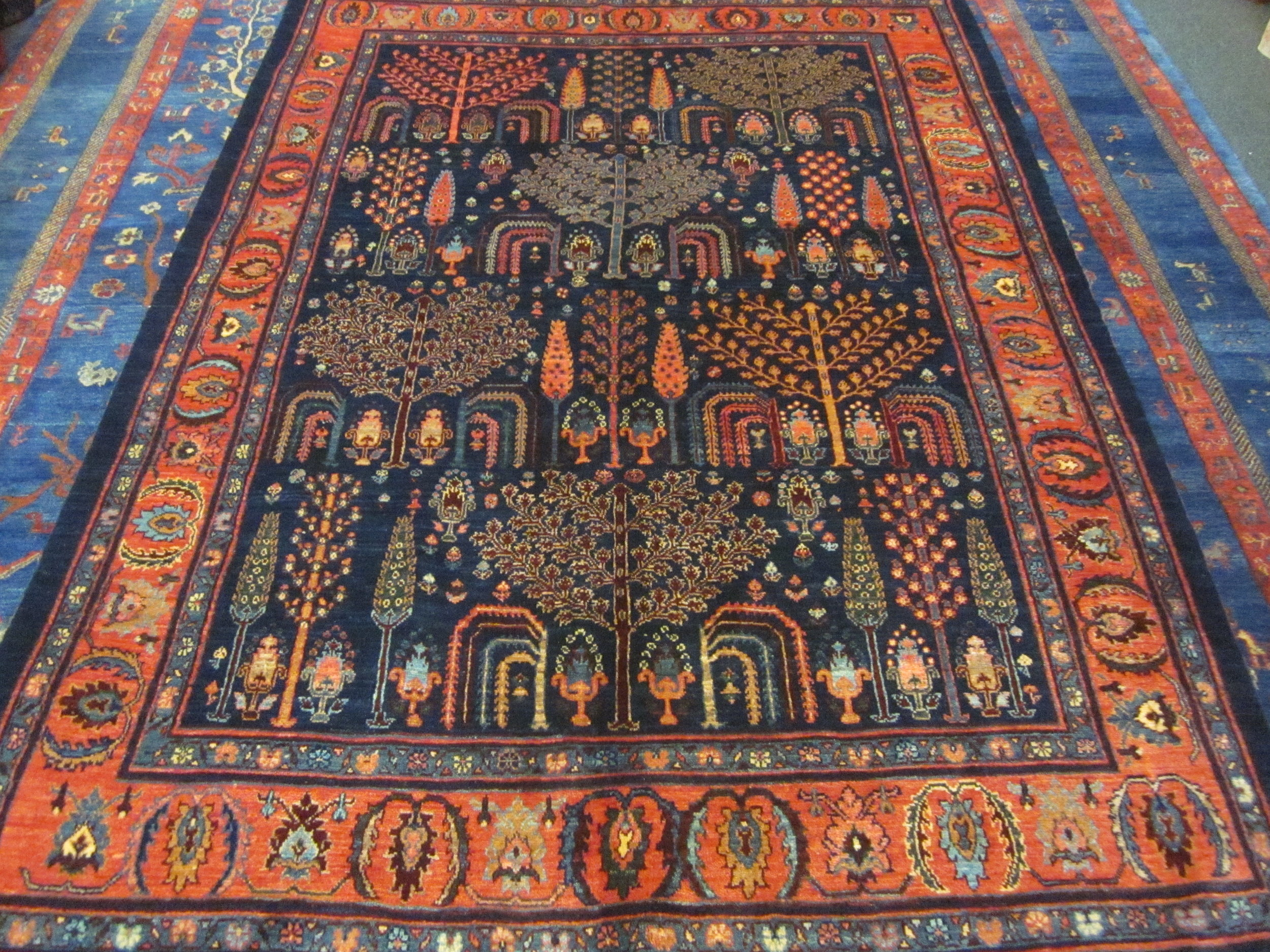 """#52a) Beautiful Persian tribal rug in the Tree of Life design. 4'10"""" x 6'11""""."""