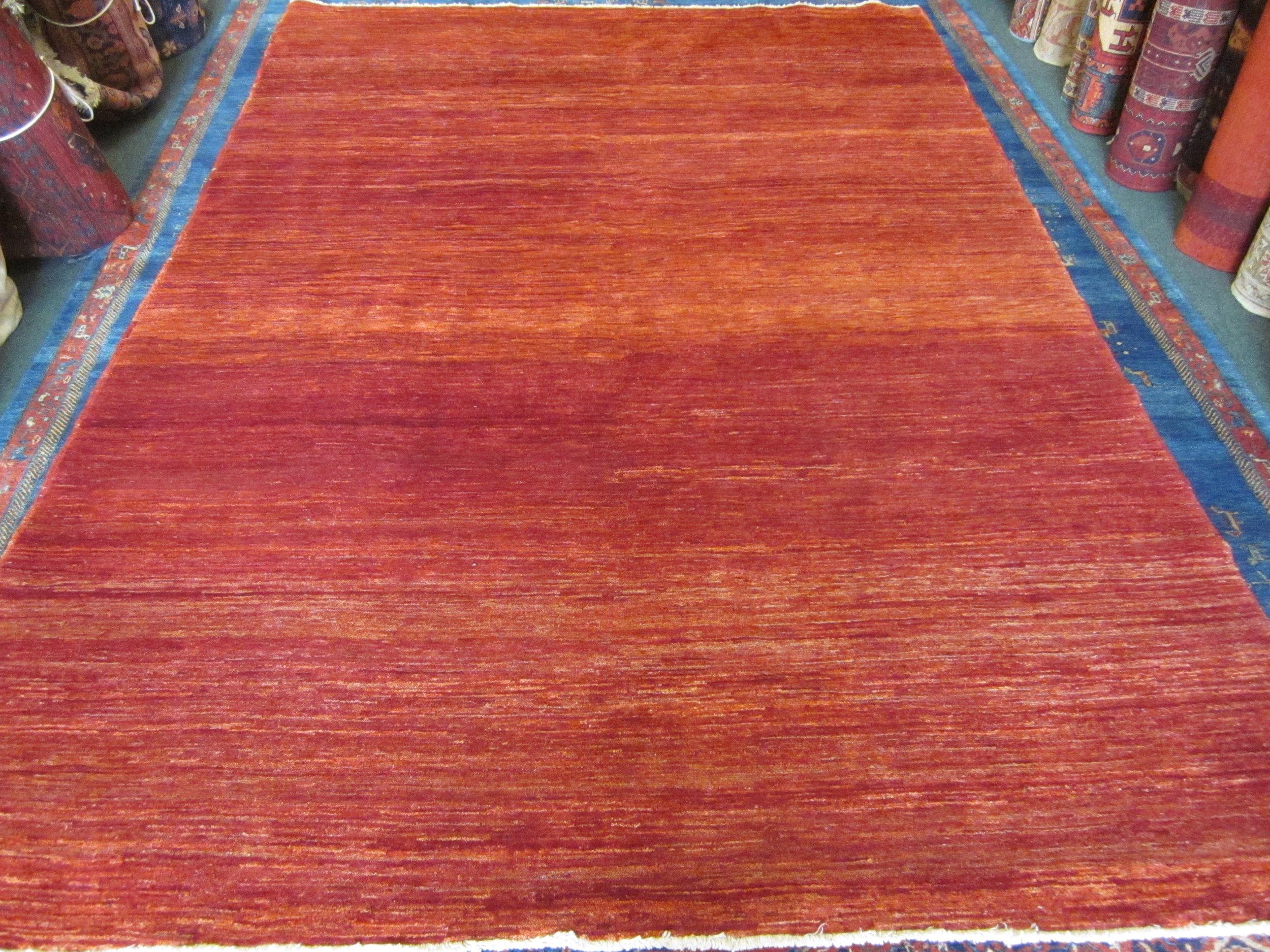"""#42) 6'7"""" x 9'11"""" Modern Afghan rug."""