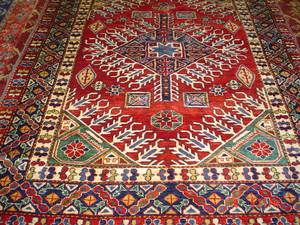 Wonderful 5 x 7 Afghan Kazak rug.