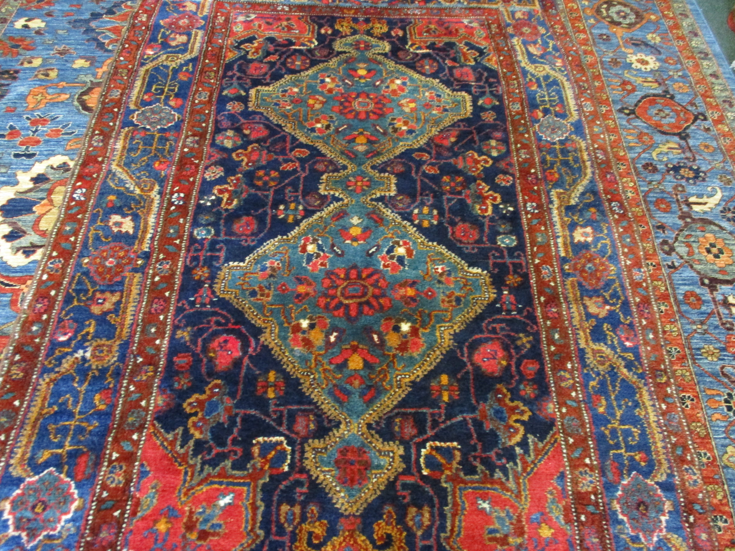 #47b) Antique Kurdish rug! 2nd half 19th Century.