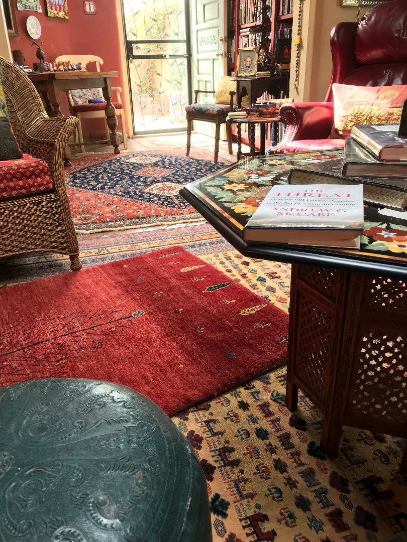 Client home. She loves rugs and has purchase many!