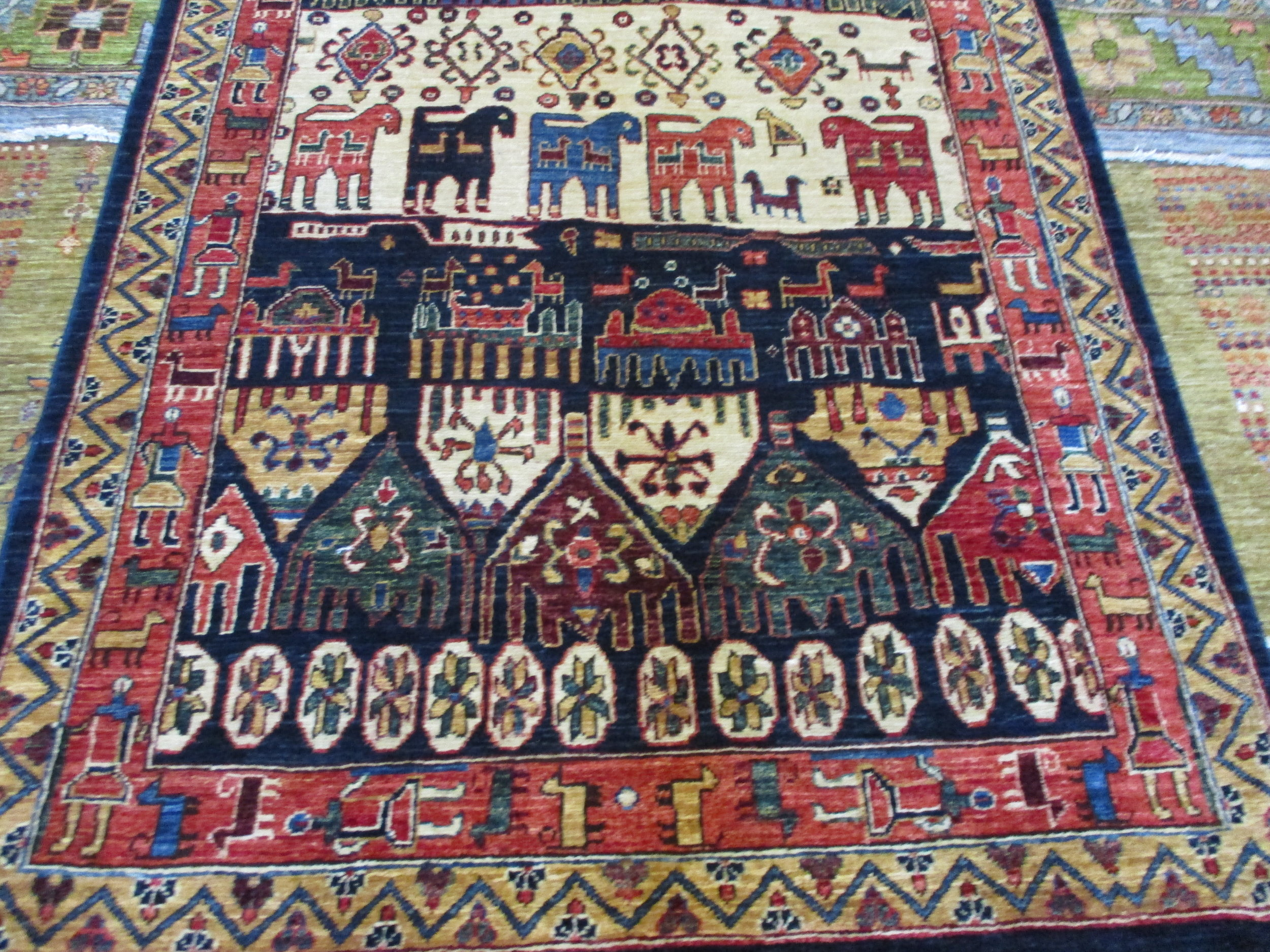 "#40) 2'8"" x 12'6"" Afghan tribal runner. Beautiful colors and drawing on this one!"