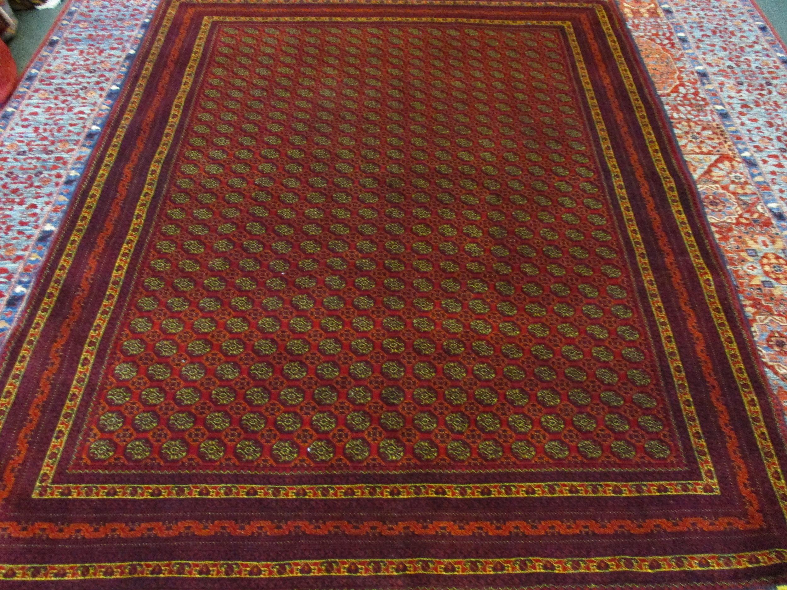"5' x 6'6"" Fine quality Turkoman rug: Hoja Roshnai"