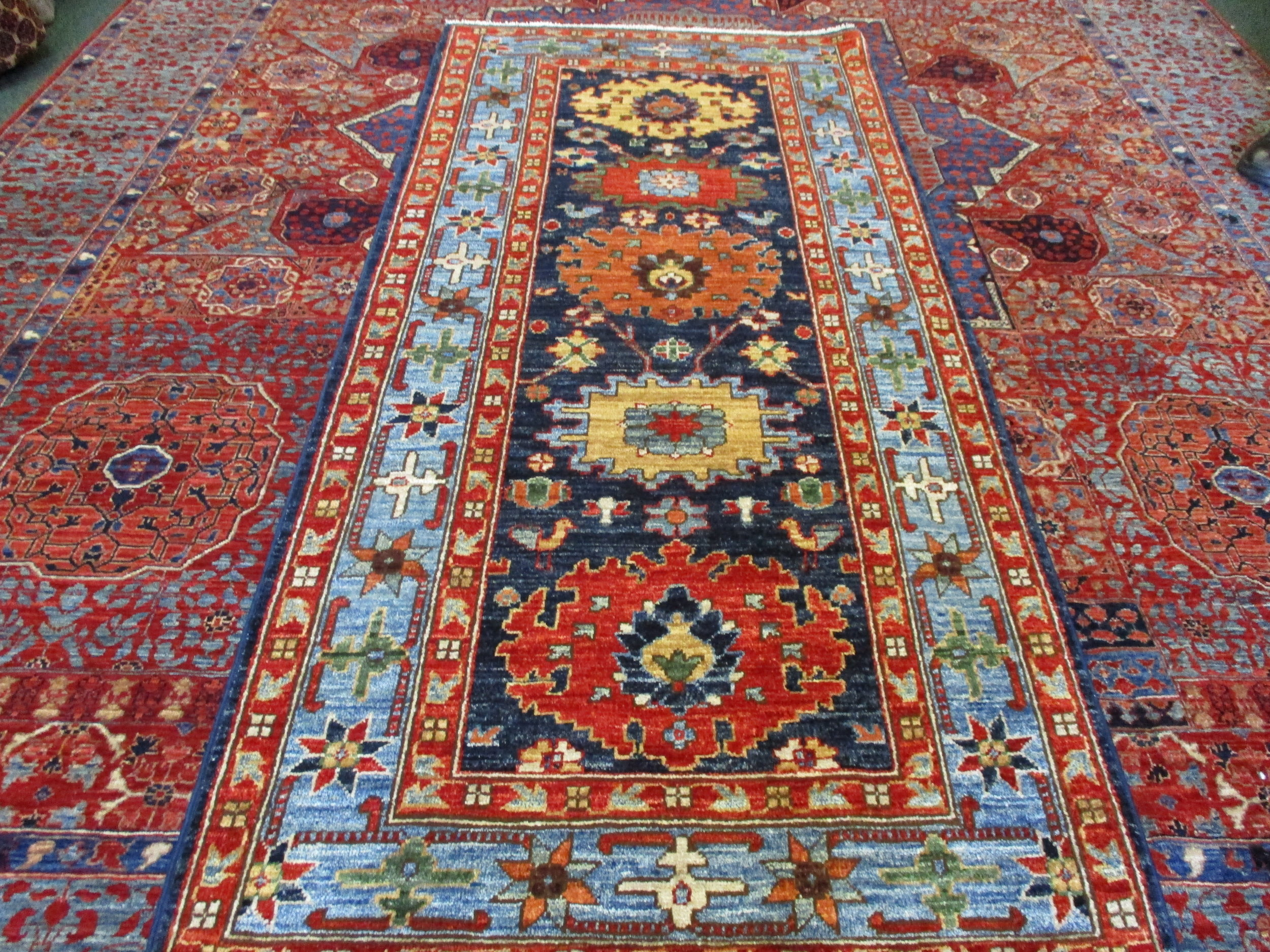 "#41) 2'9"" x 6'1"" Afghan runner, tribal design."