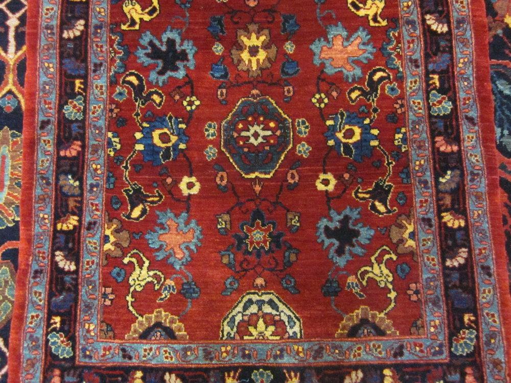 Small Bijar rug in the Shah Abbas design