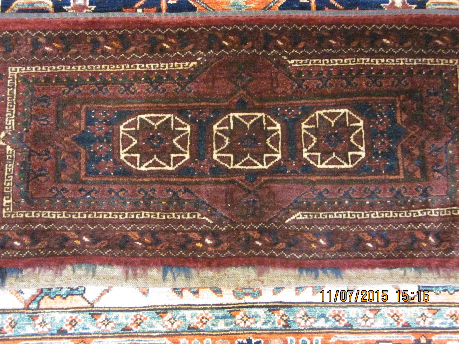 Wonderful antique Balouch torba. Excellent condition.