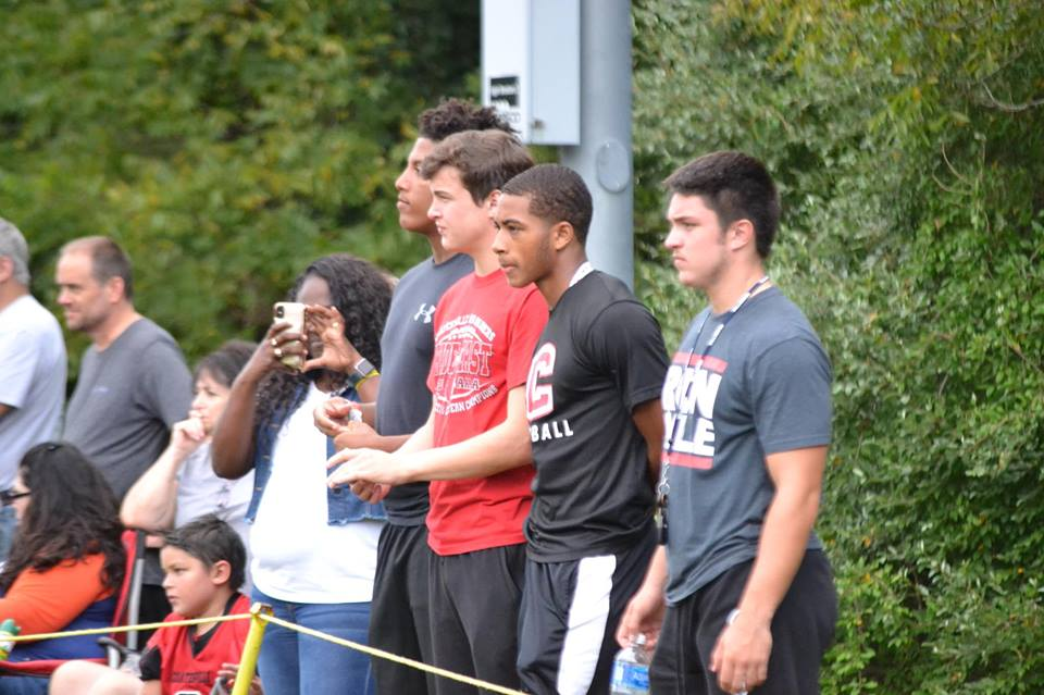 Coatesville players supporting the CKR teams during a game this season.