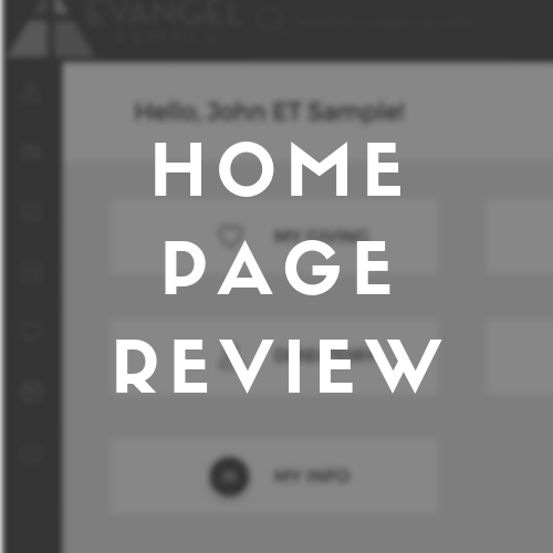 How to navigate the website home page after logging in.