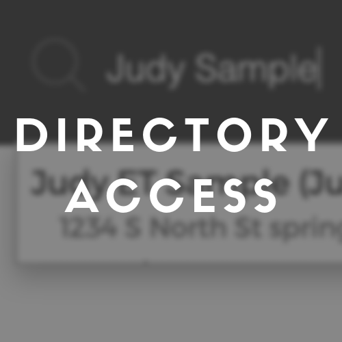 How to access the Church Directory from the website.