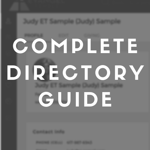 A complete guide to My Info, My Giving, Directory, Groups