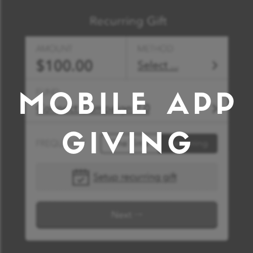 How to give through the Mobile App.